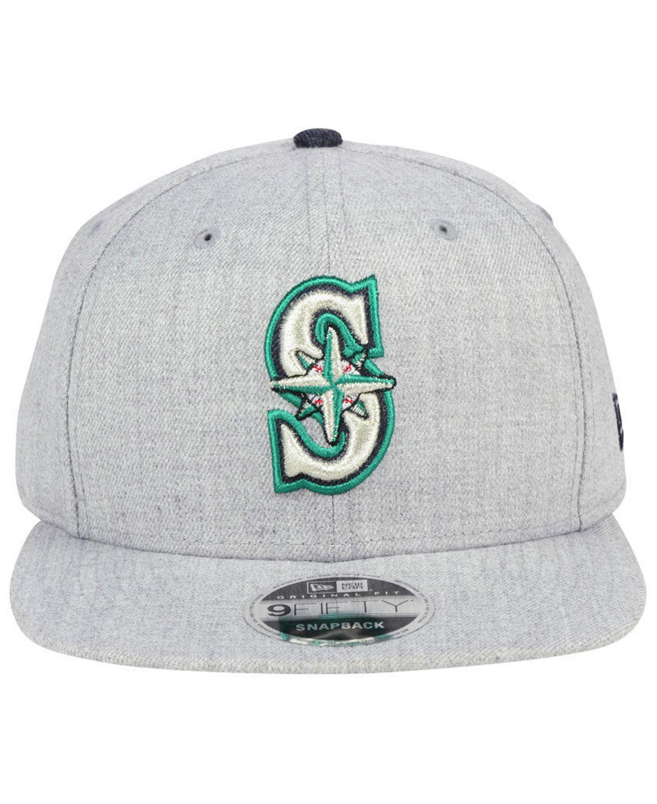 on sale 71138 2db57 shopping lyst ktz seattle mariners heather hype 9fifty snapback cap in gray  for men da146 83511