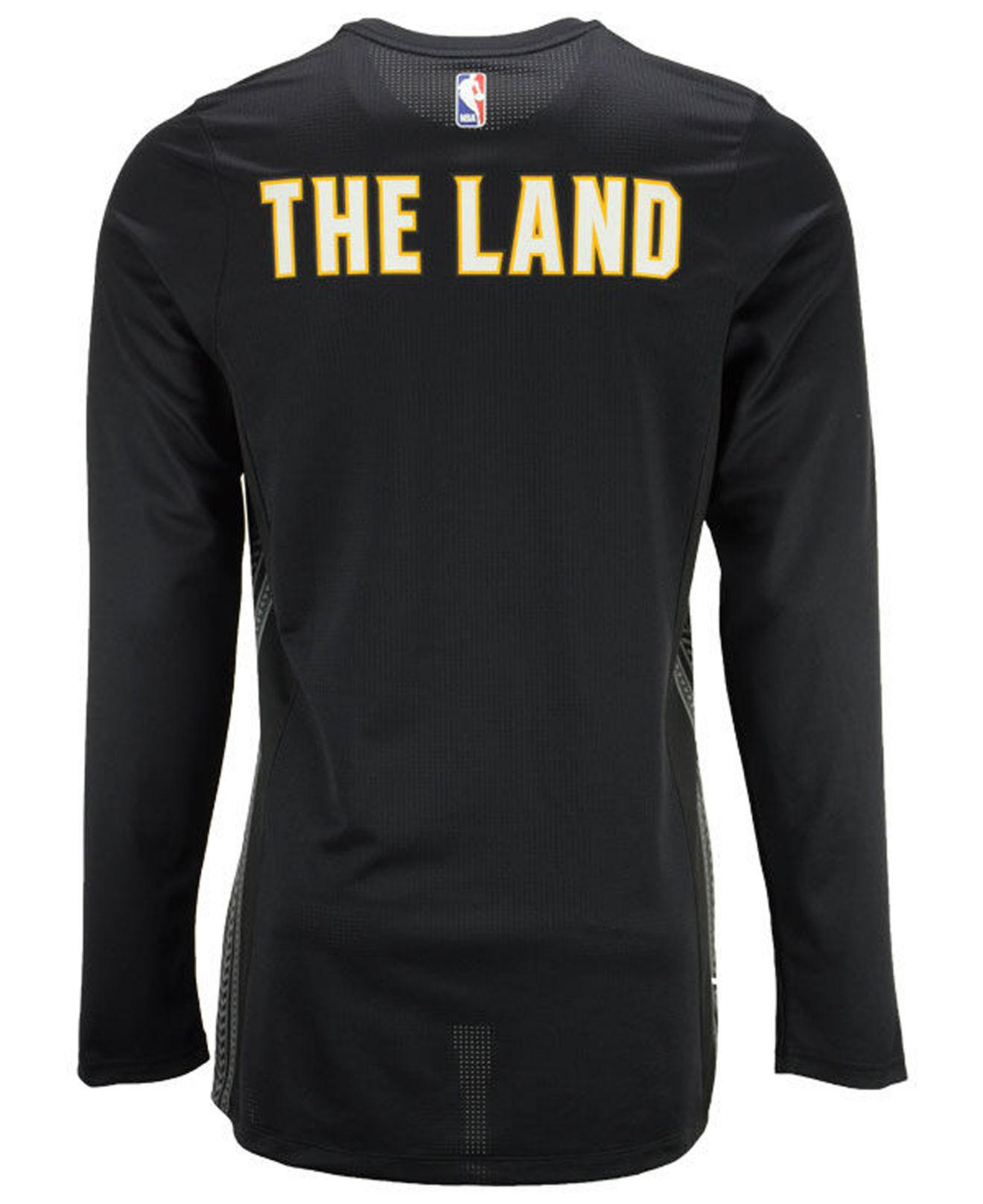 7b9337e51fdf Lyst - Nike Cleveland Cavaliers City Edition Shooting Shirt in Black ...