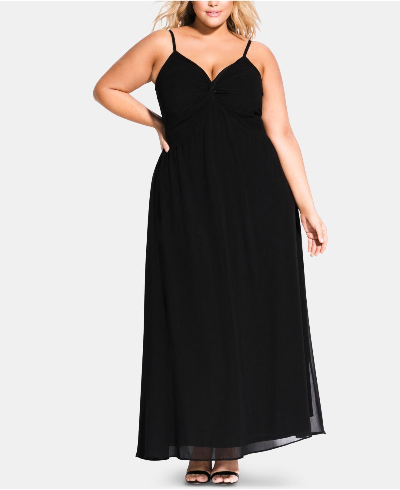 efcfccb6b1 Lyst - City Chic Trendy Plus Size Ambrosia Twist Maxi Dress in Black ...