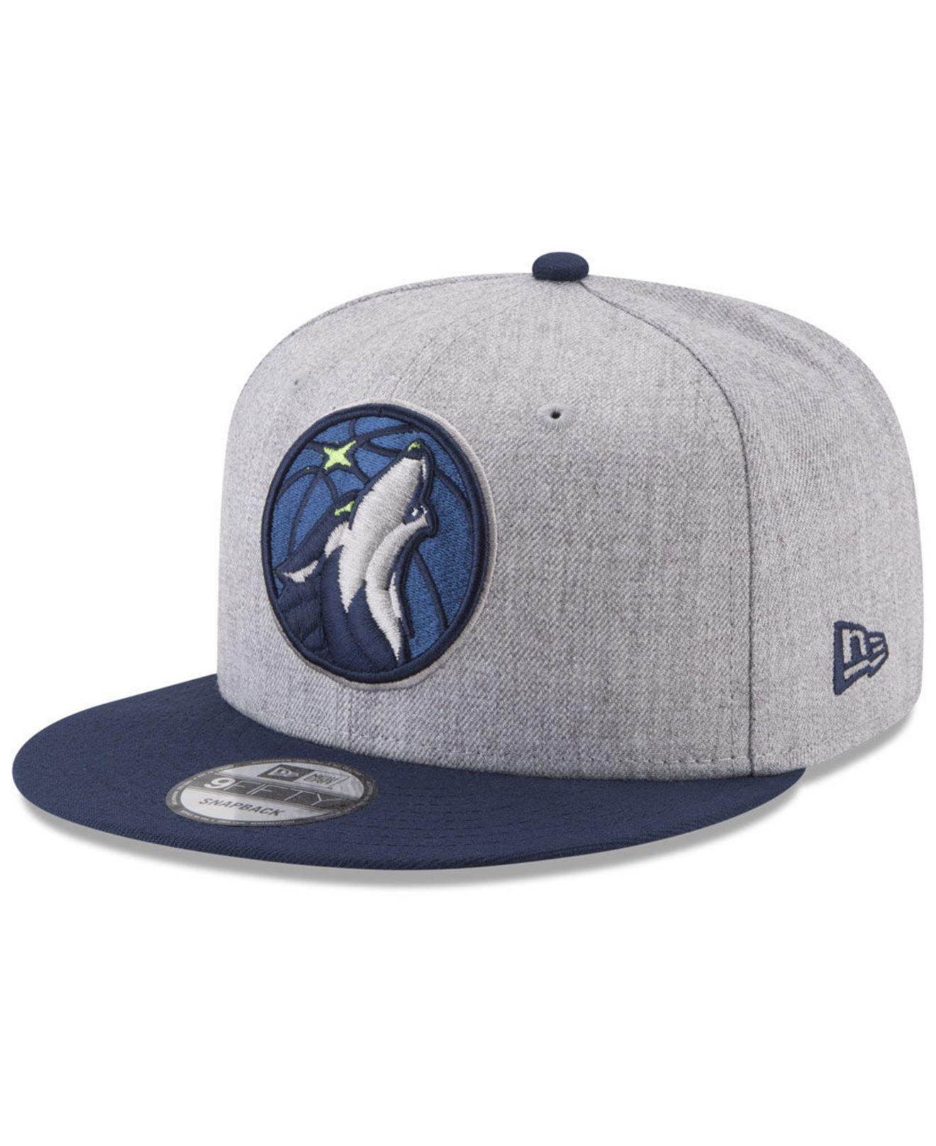 KTZ. Men s Blue Minnesota Timberwolves Heather 2tone Current 9fifty Snapback  Cap e328af4ba96f