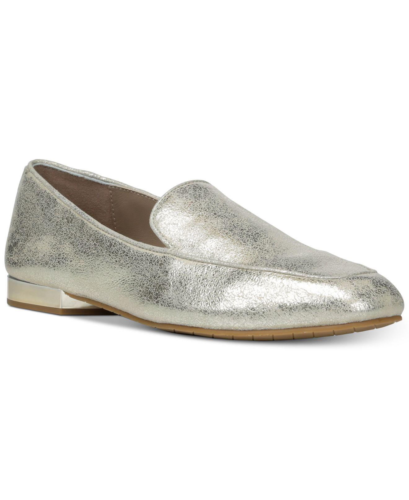 Donald Pliner Women's Honey Tumbled Leather & Patent Leather Loafers 4vtgCb