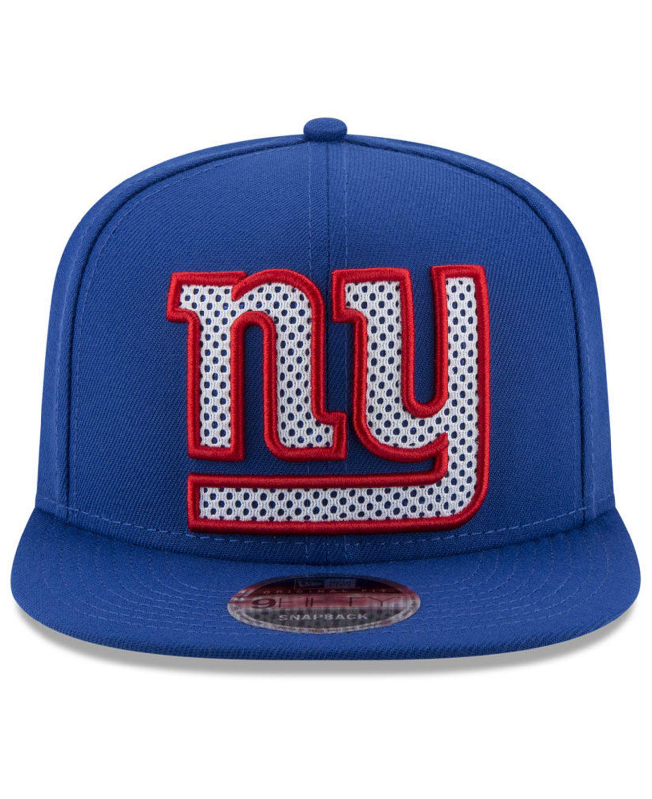 11801dd894b Lyst - Ktz New York Giants Meshed Mix 9fifty Snapback Cap in Blue for Men