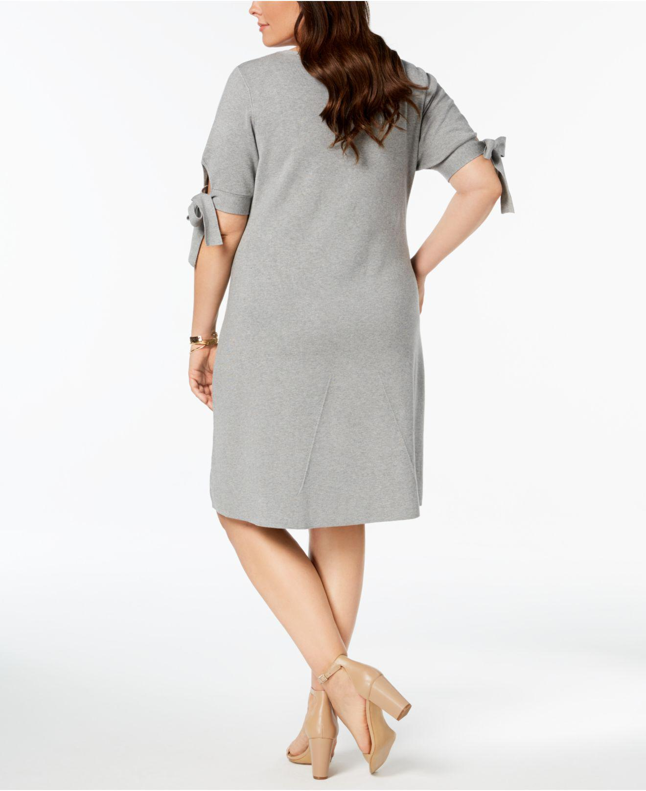 Lyst - 525 America Plus Size Tie-sleeve Fit & Flare Dress, Created ...