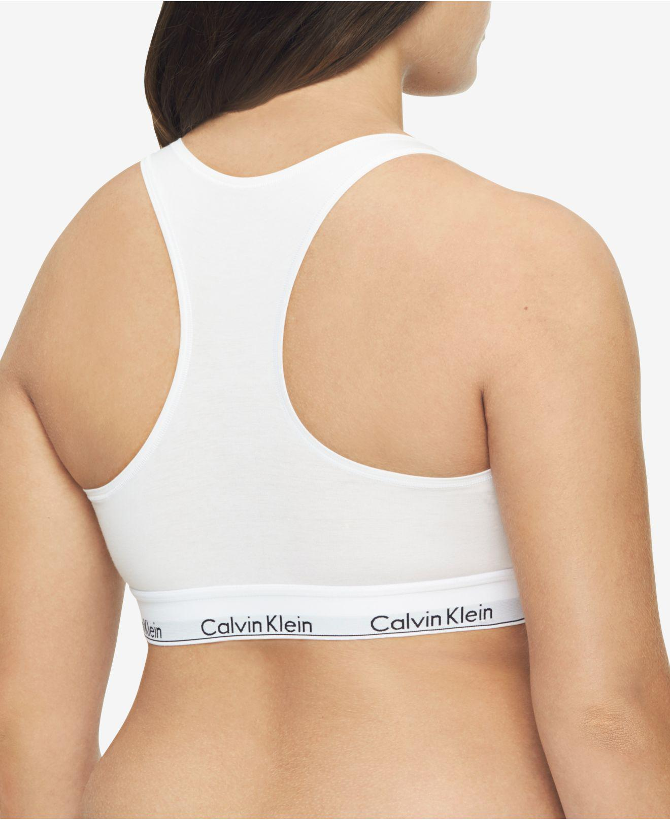 57cfbb82f4 Lyst - Calvin Klein Plus Size Modern Cotton Unlined Bralette Qf5116 in White