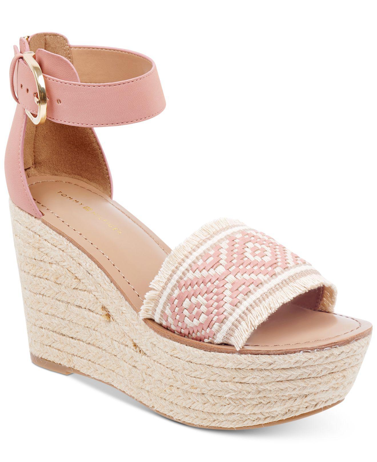 Tommy Hilfiger Yavino Espadrille Platform Wedge Sandals Women's Shoes KR4dd1K4
