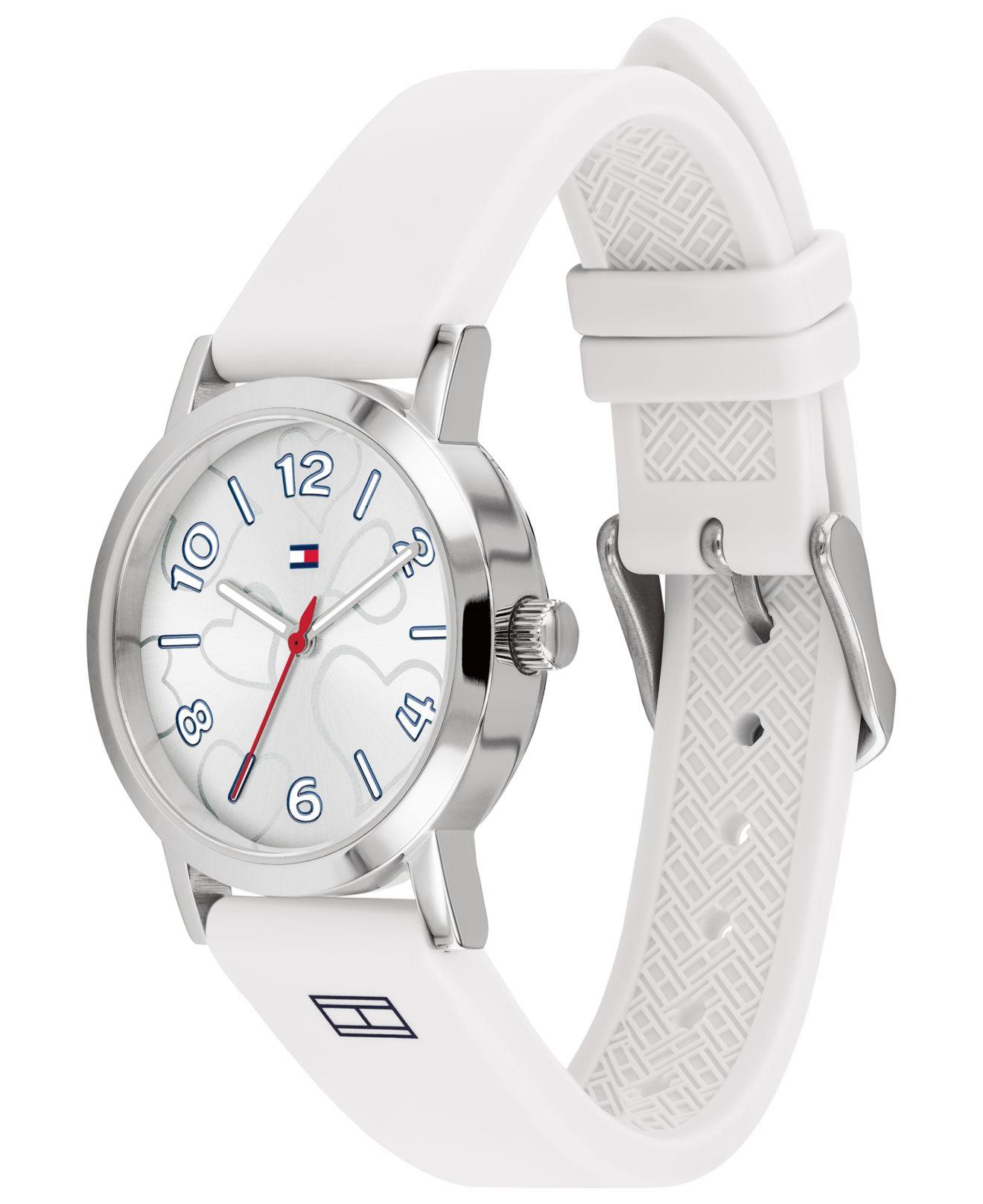 6246a0cbc Tommy Hilfiger - White Silicone Strap Watch 32mm Created For Macy's - Lyst.  View fullscreen