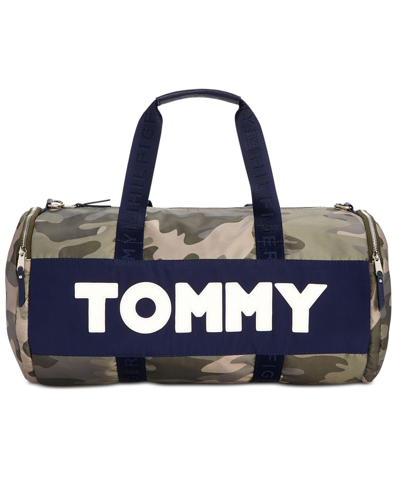 eaecc0906 Tommy Hilfiger Nylon Sporty Camo Duffle Bag - Lyst