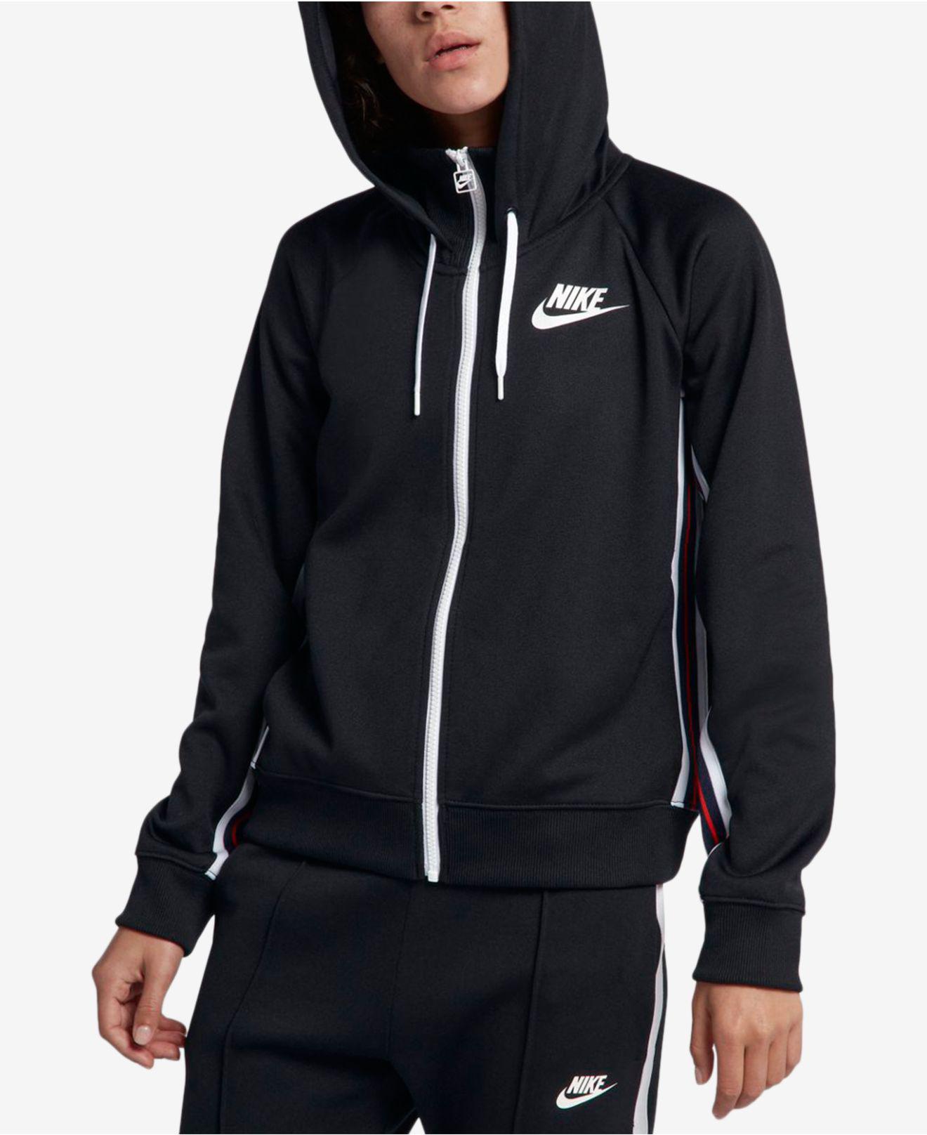 486385687433 Nike - Black Sportswear Zip Hoodie - Lyst. View fullscreen