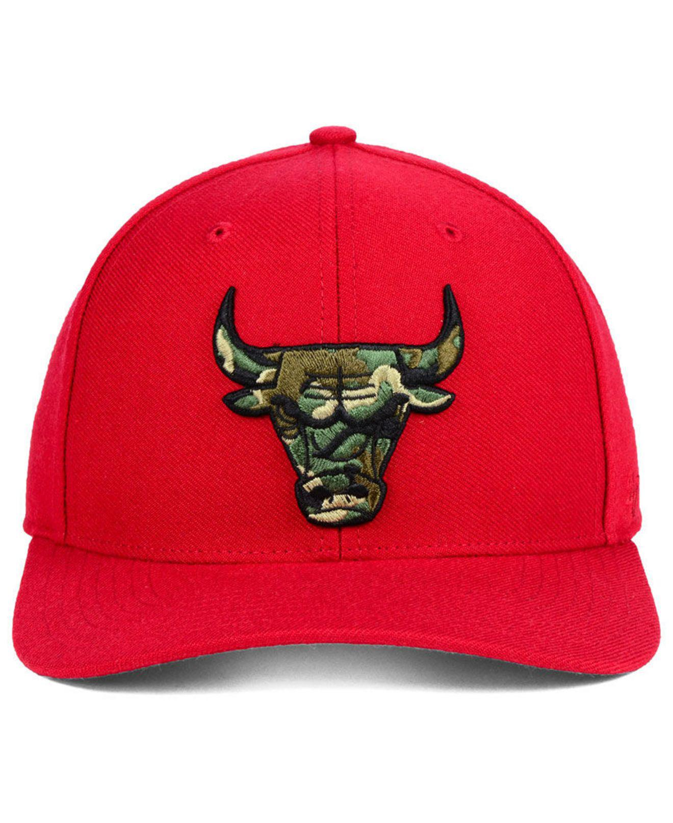 outlet store 046de 6024a ... promo code for lyst 47 brand chicago bulls camfill mvp cap in red for  men 37894