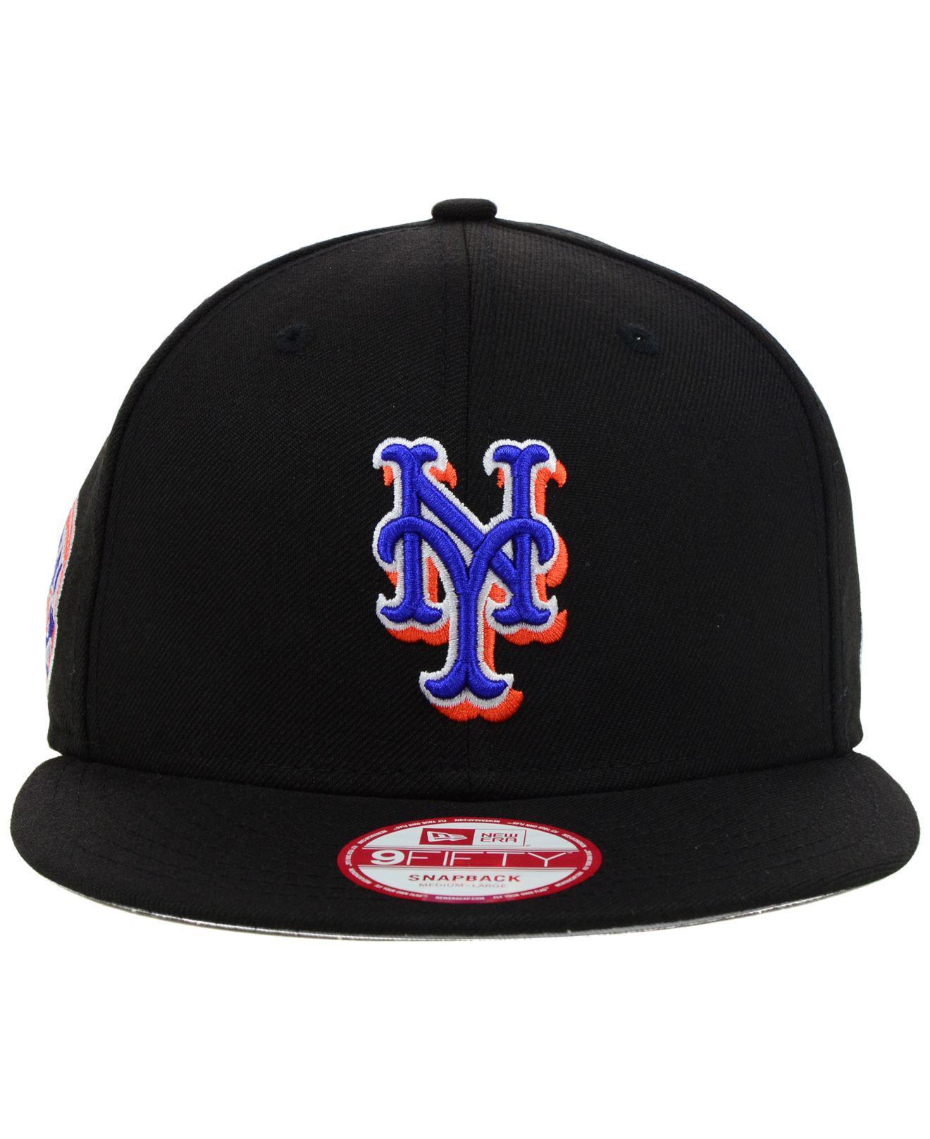 8744991bcf06f KTZ New York Mets Mlb 2 Tone Link 9fifty Snapback Cap in Black for Men -  Lyst