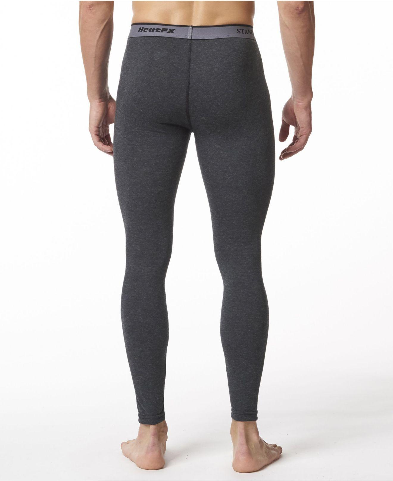 Stanfields Mens Premium Cotton Rib Thermal Long Sleeve Undershirt Underwear Grey Heather