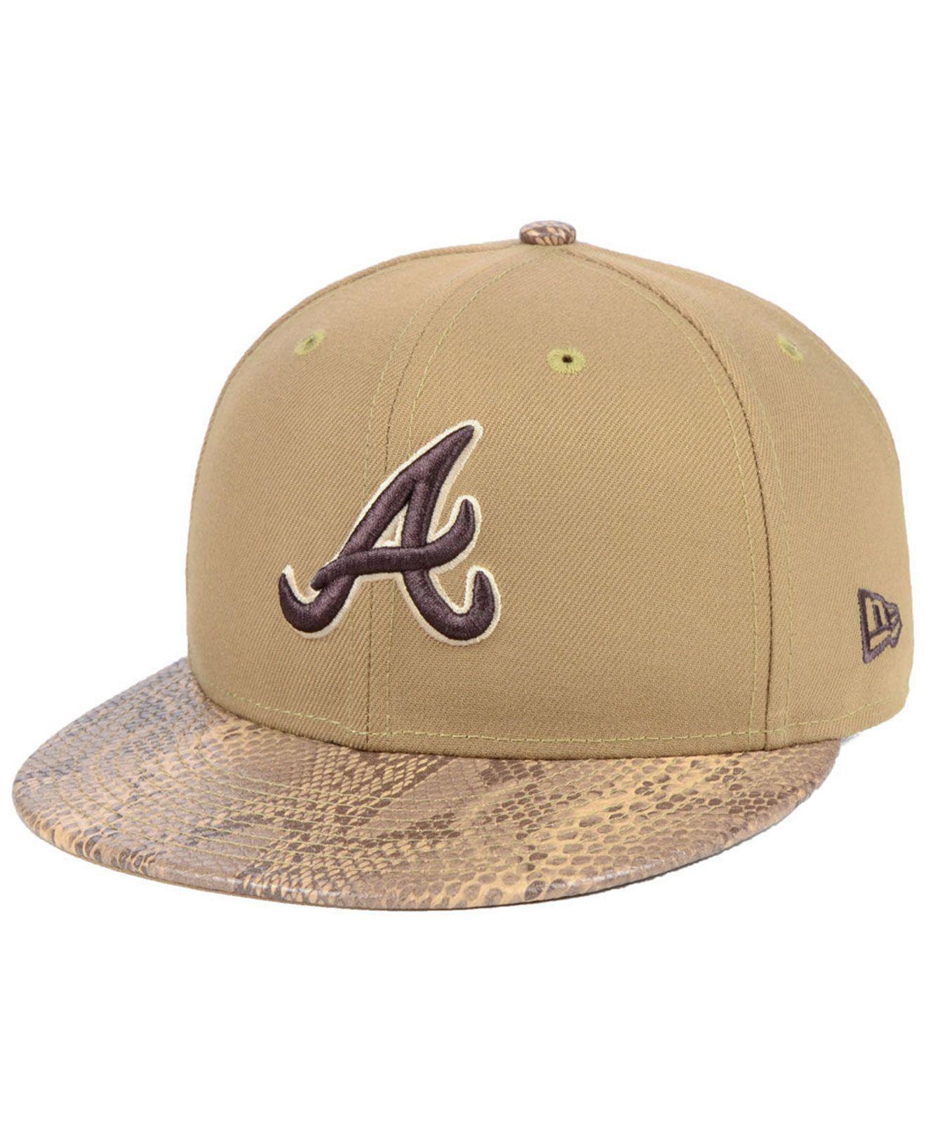 98951588629 Lyst - Ktz Atlanta Braves Snakeskin Sleek 59fifty Fitted Cap in ...
