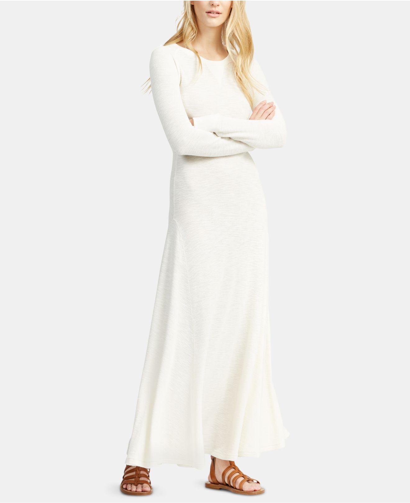 1370f2b48f Lyst - Polo Ralph Lauren Cotton Maxi Dress in White