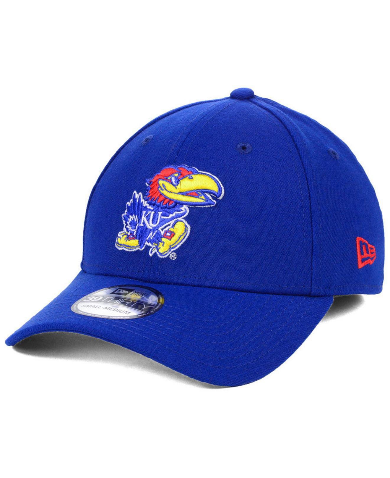 a25229c3383 Lyst - Ktz Kansas Jayhawks College Classic 39thirty Cap in Blue for Men
