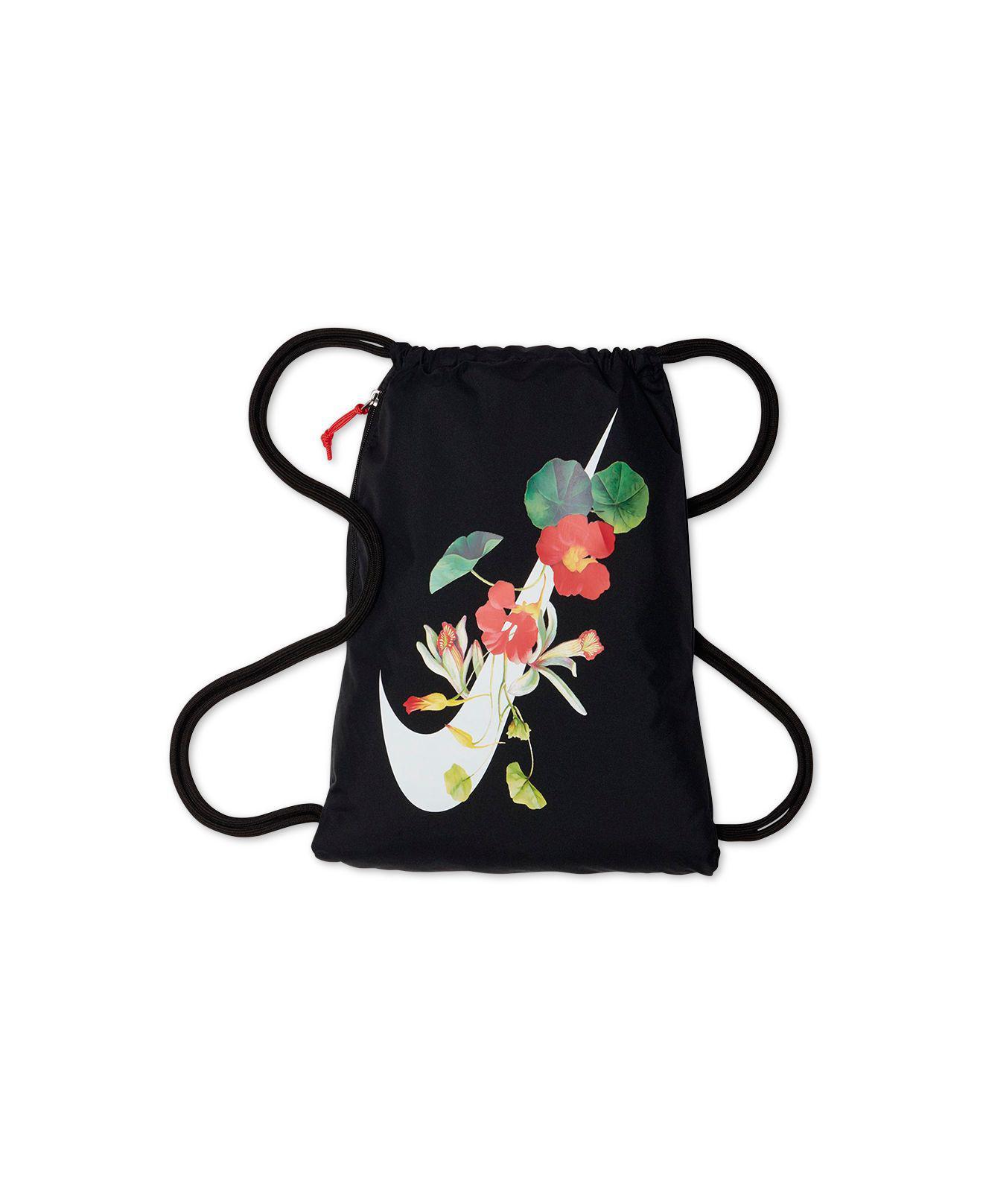 wholesale dealer 643bb 12506 Nike Ultra-femme Floral-logo Gym Sack in Black - Lyst