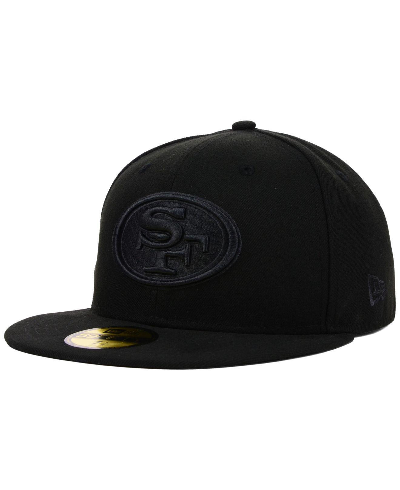 KTZ - San Francisco 49ers Nfl Black On Black 59fifty Cap for Men - Lyst.  View fullscreen 2553e4b38