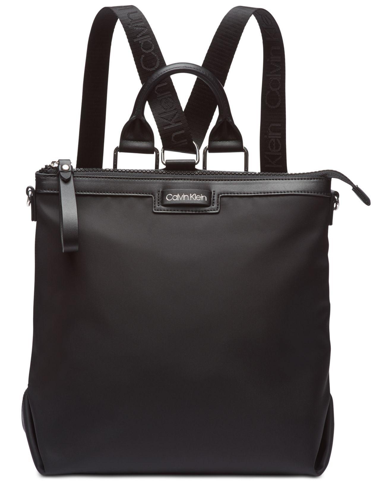 0975ee645756 Calvin Klein - Black Calvn Klein Lane Backpack Logo Crossbody - Lyst. View  fullscreen