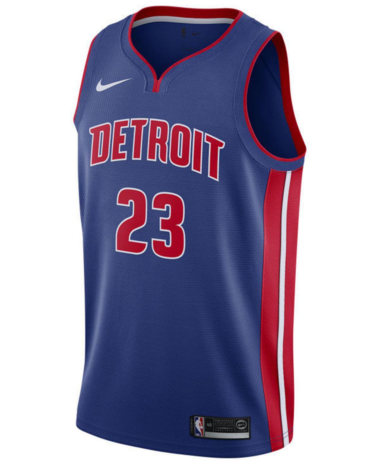 dd4dedfe886 ... sale lyst nike blake griffin detroit pistons icon swingman jersey in  blue for men 25e52 d3e44