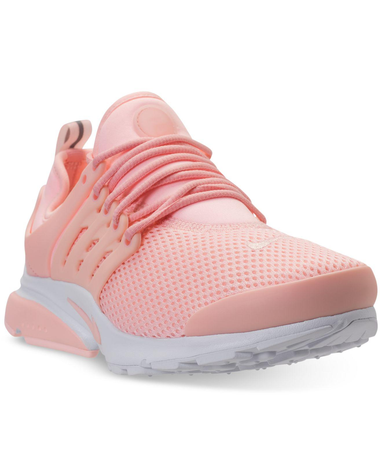 Lyst - Nike Air Presto Running Sneakers From Finish Line in Pink e13144a22858