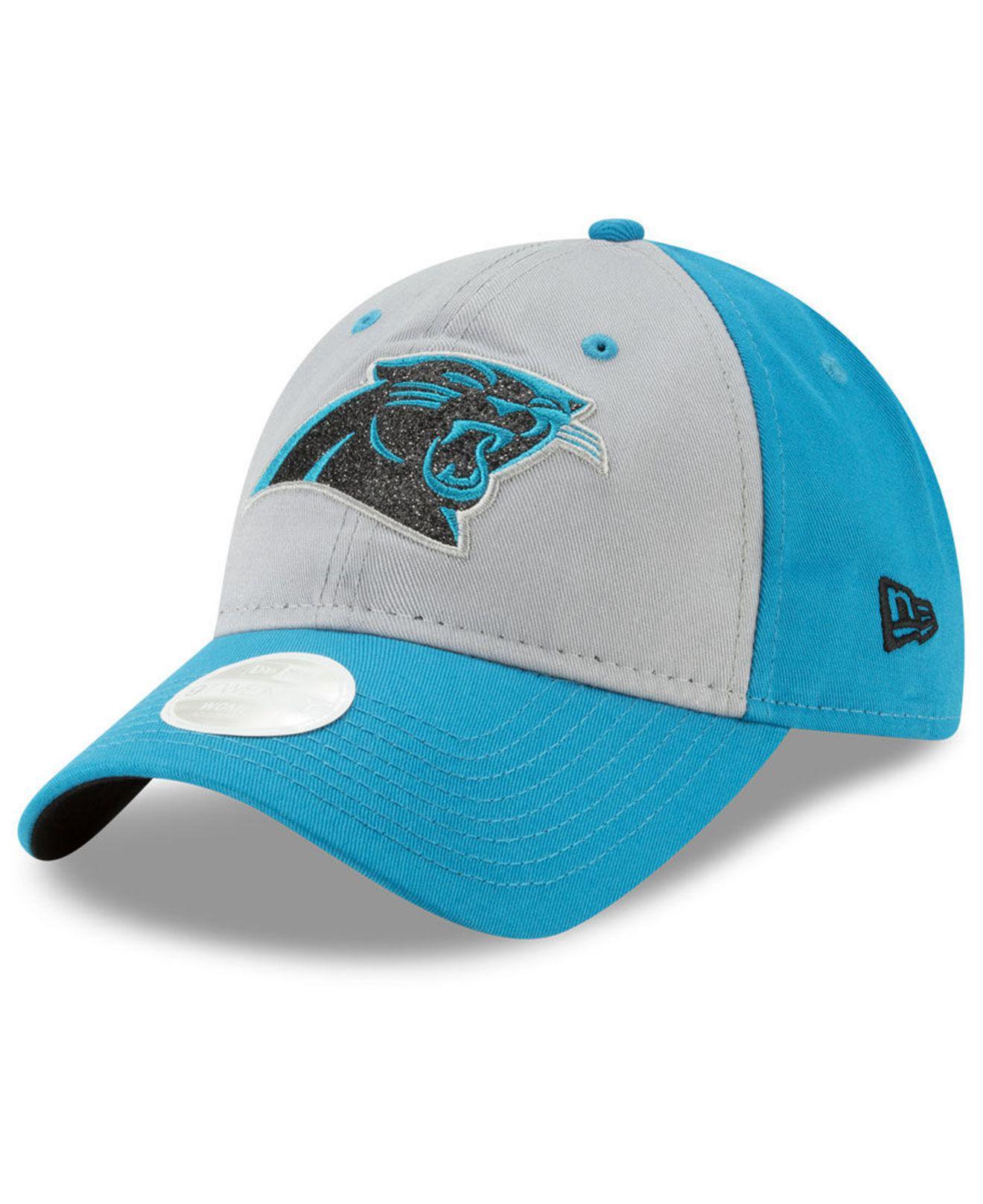 best service 7c8cb 1d411 Lyst - KTZ Carolina Panthers Gray Glitter 9twenty Cap in Blue
