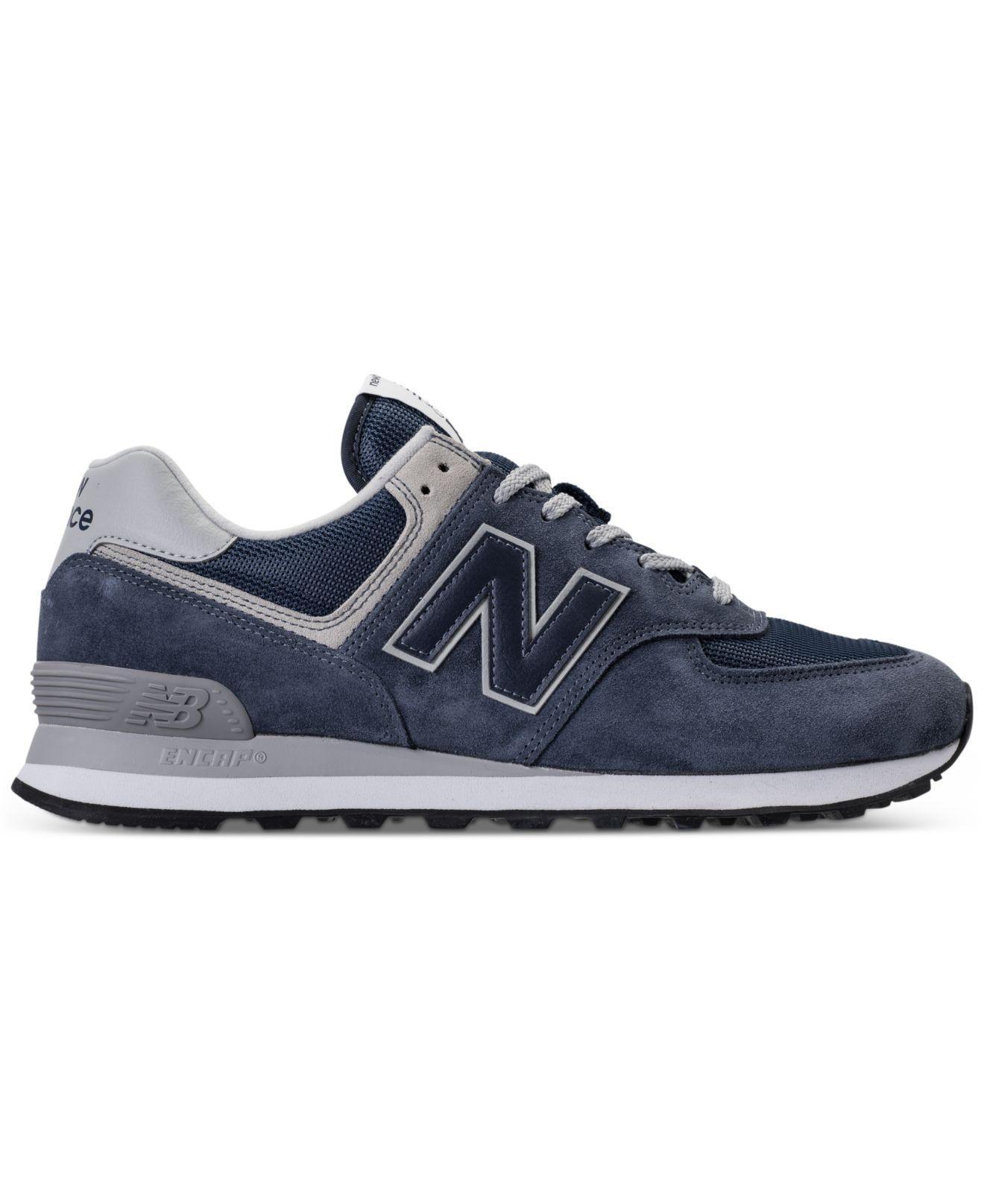 new balance 574 classic blu