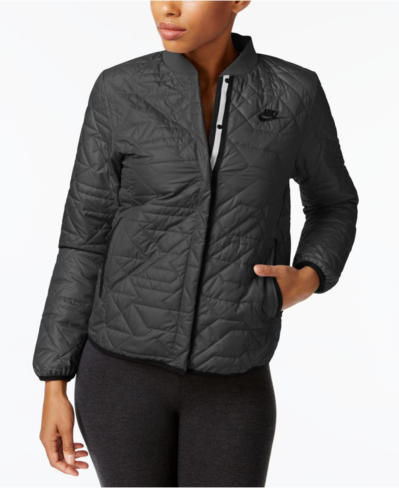 8c019a464 Nike Black Sportswear Quilted Jacket