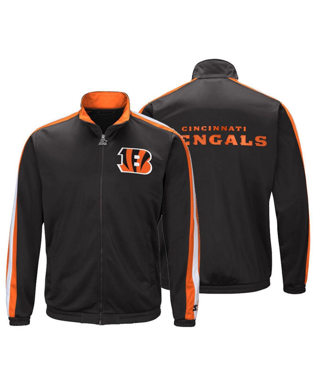 cb29878c Starter Cincinnati Bengals The Challenger Track Jacket in Black for ...