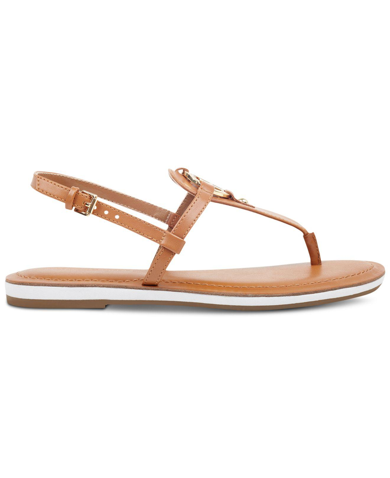reliable quality united states lace up in Tommy Hilfiger Genei Sandal in Cognac (Brown) - Lyst