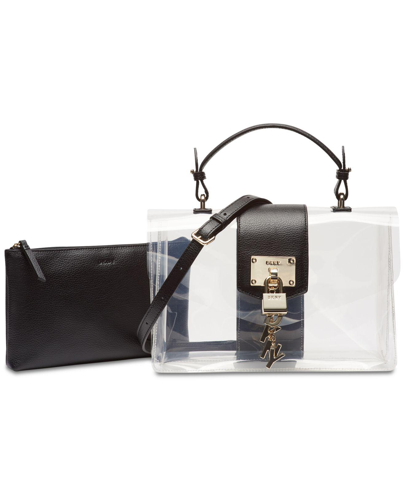 1ebaa9533ec0 Lyst - DKNY Elissa Flap Clear Shoulder Bag