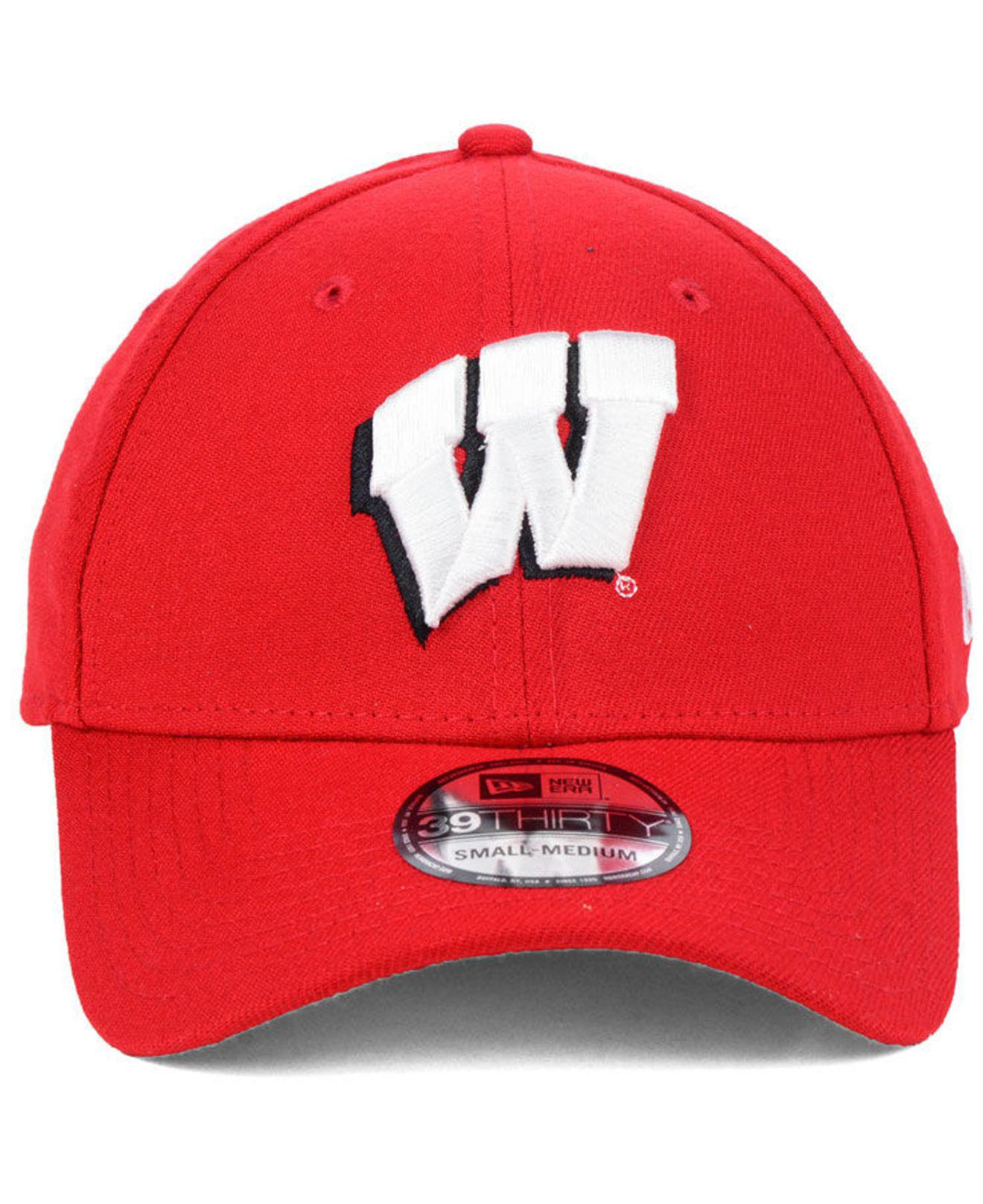 size 40 a55d3 1d952 Lyst - KTZ Wisconsin Badgers College Classic 39thirty Cap in Red for Men -  Save 44%