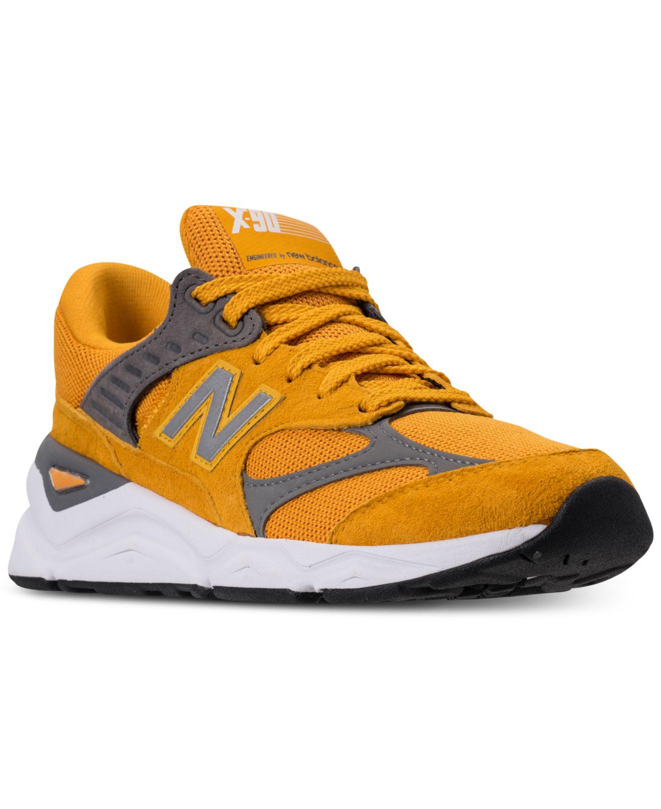 New Balance Leather X90 V2 Running Sneakers From Finish Line in ...