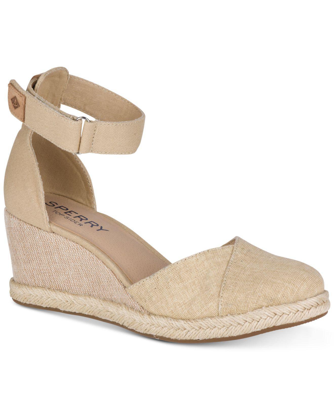 Sperry Women's Valencia Platform Espadrille Wedge Sandals Women's Shoes hHPVC