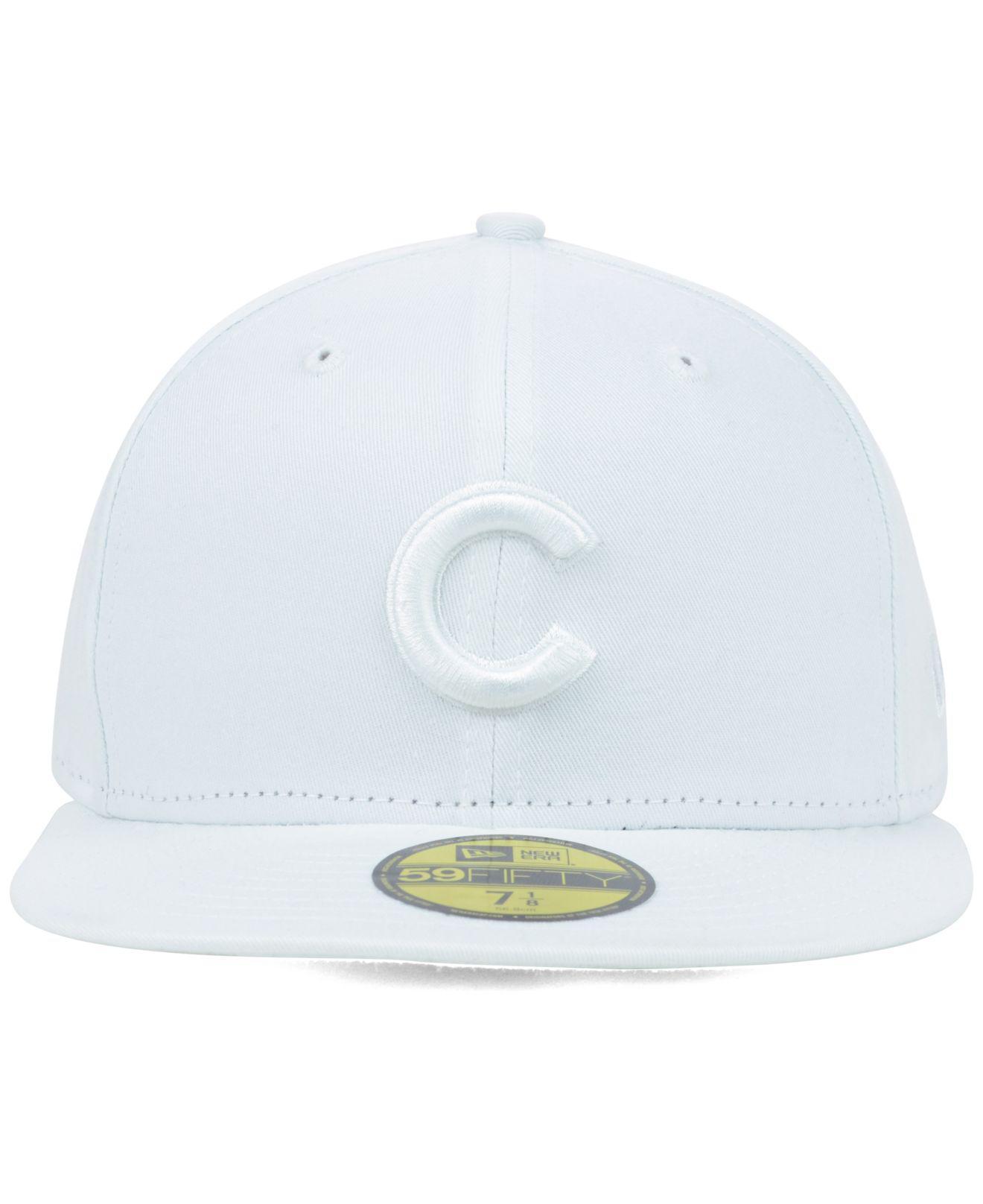 3ef2899c4d0 Lyst - KTZ Chicago Cubs White-on-white 59fifty Cap in White for Men