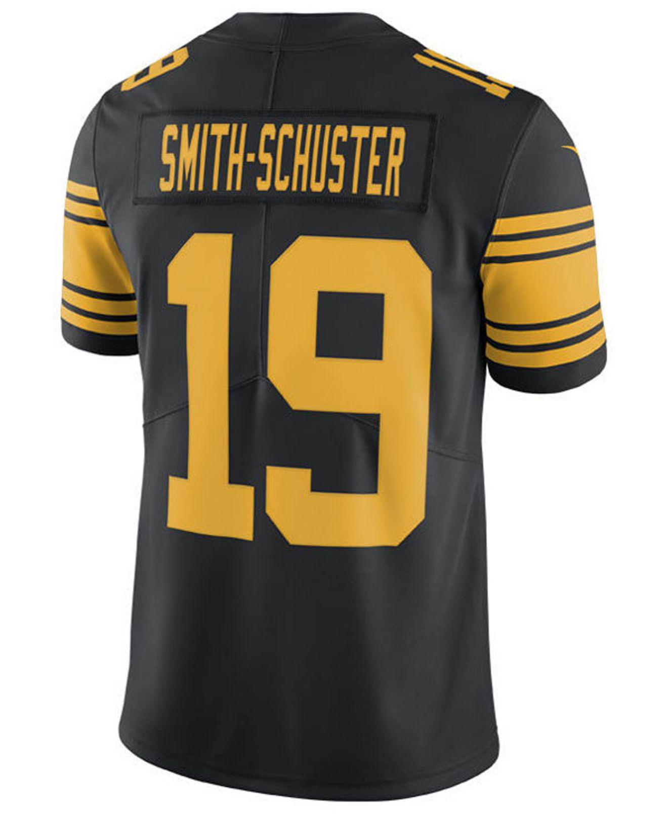 premium selection bbab6 81a67 Men's Black Juju Smith-schuster Pittsburgh Steelers Limited Color Rush  Jersey