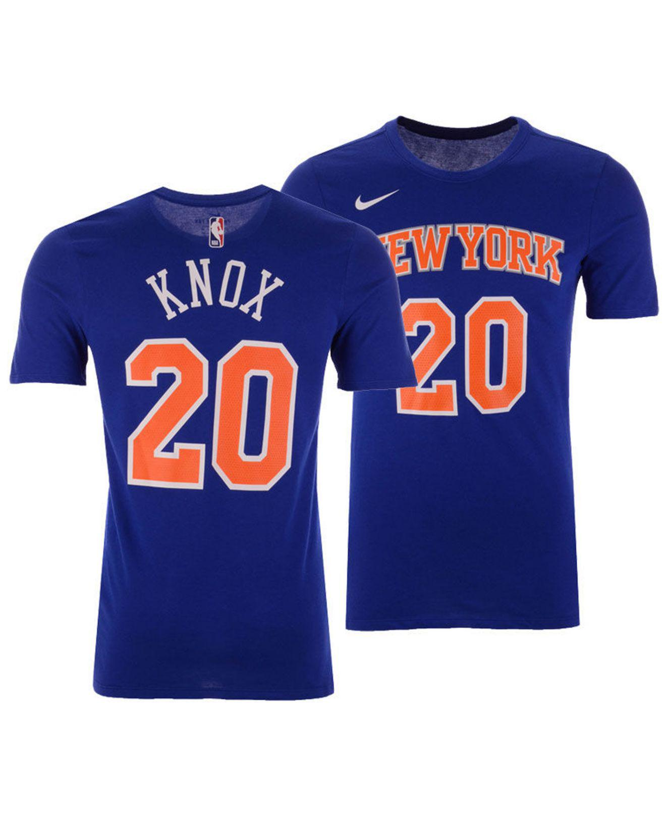 Lyst - Nike Kevin Knox New York Knicks Icon Player T-shirt in Blue ... e94a25ea4