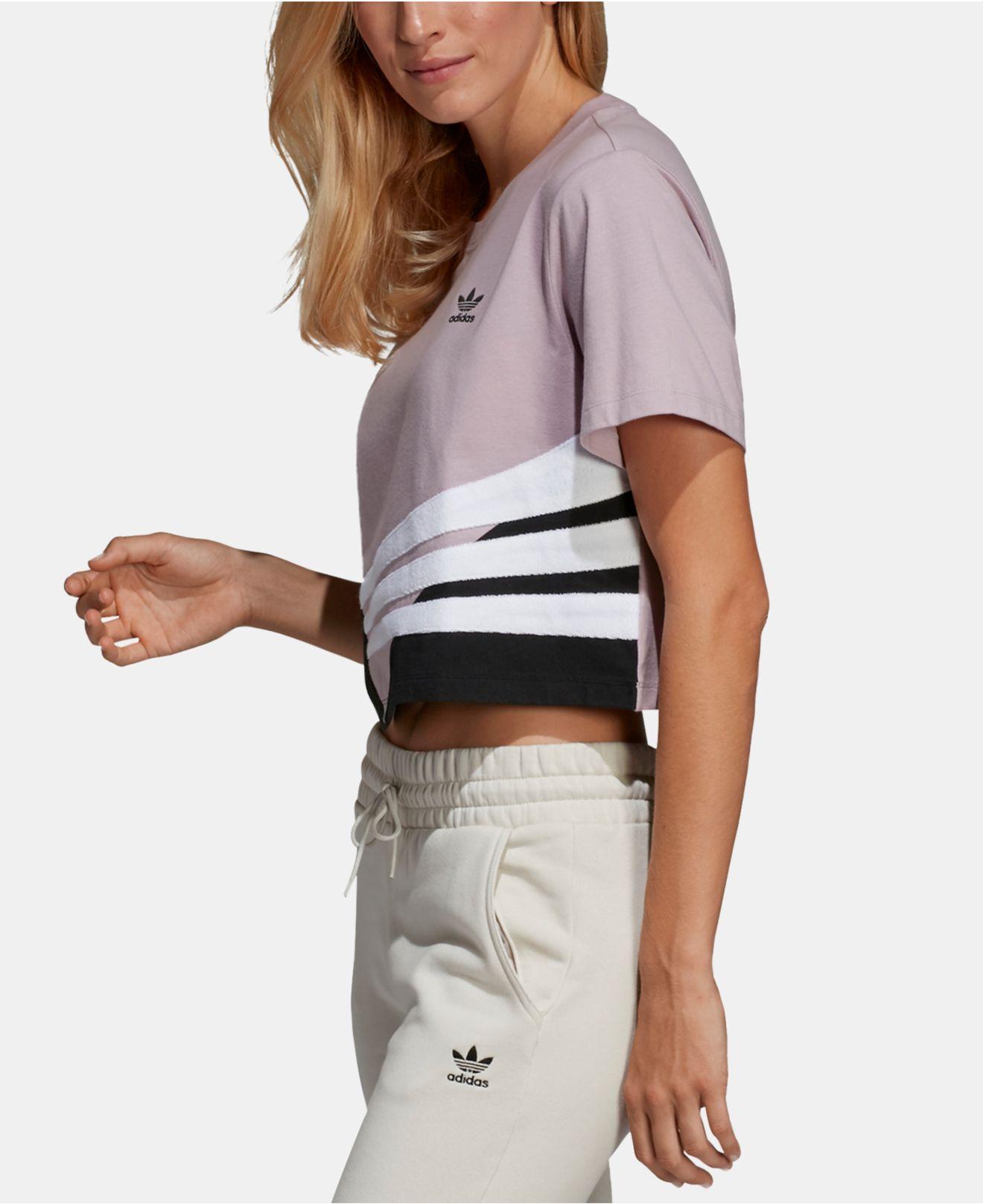 c5468620 Adidas Multicolor Originals Bossy 90s Cropped T-shirt