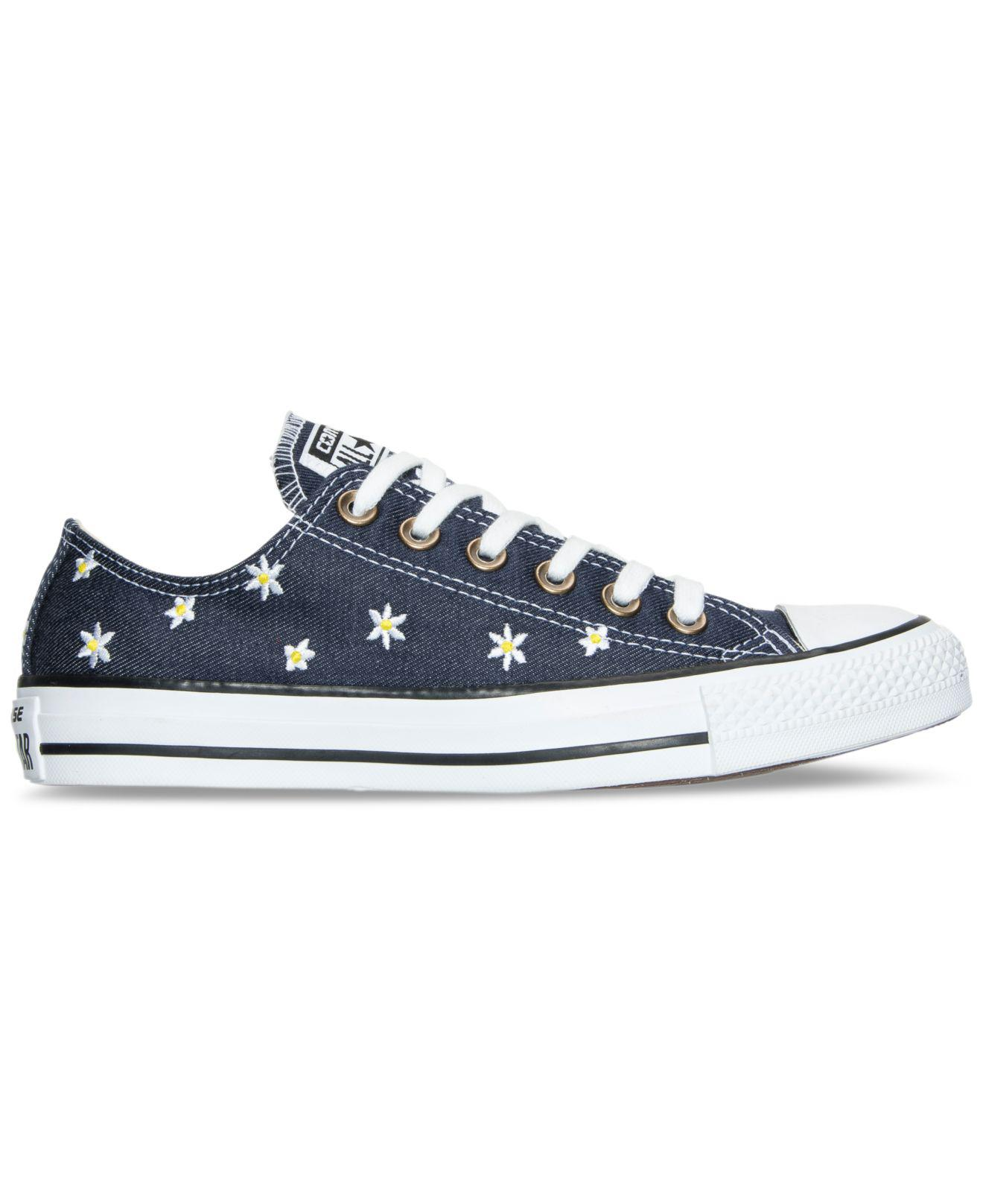 84c6e5cee4d5 Lyst - Converse Women s Chuck Taylor Ox Daisy Print Casual Sneakers ...