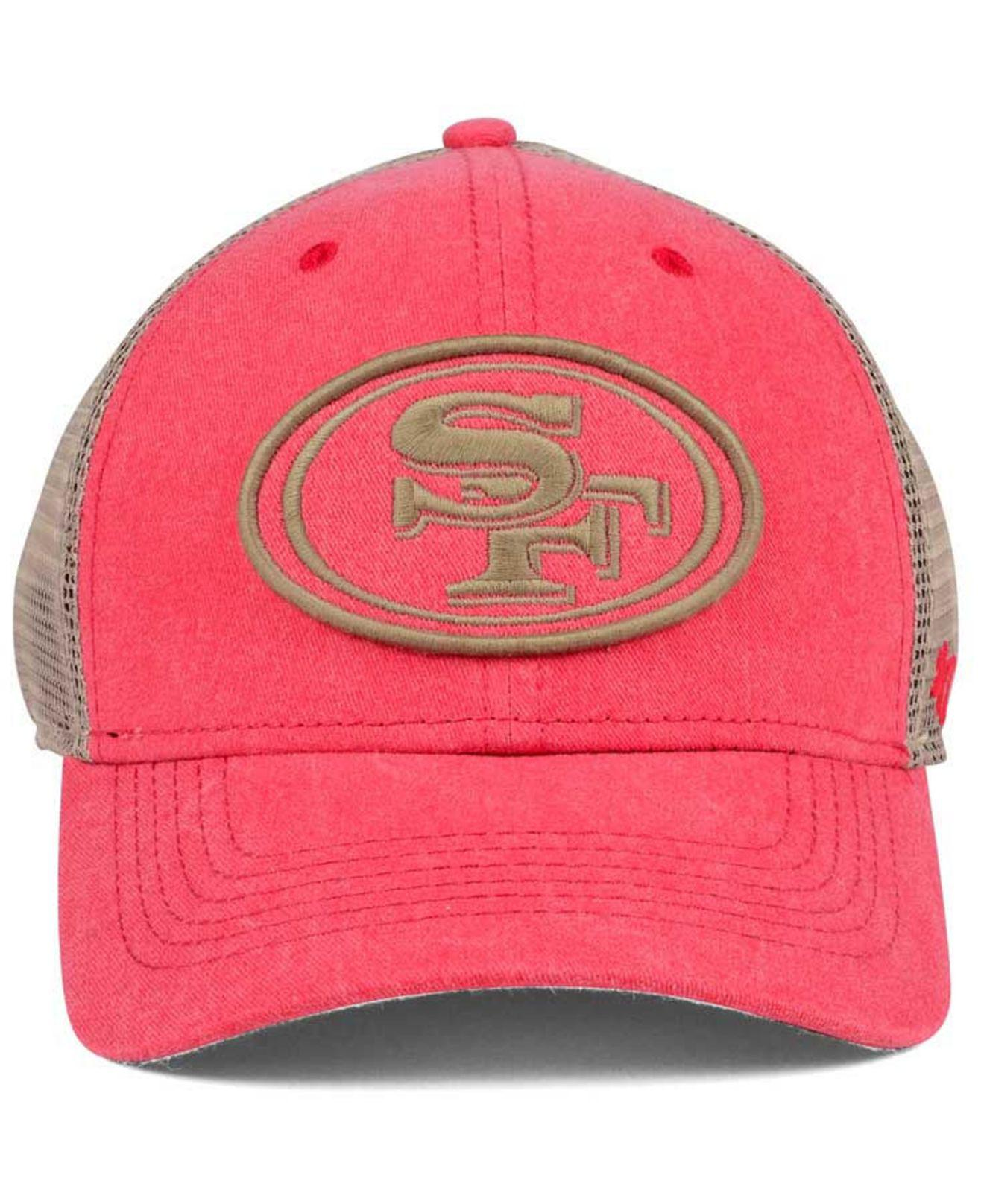 more photos d06a0 4afd2 Lyst - 47 Brand San Francisco 49ers Summerland Contender Flex Cap in Red  for Men