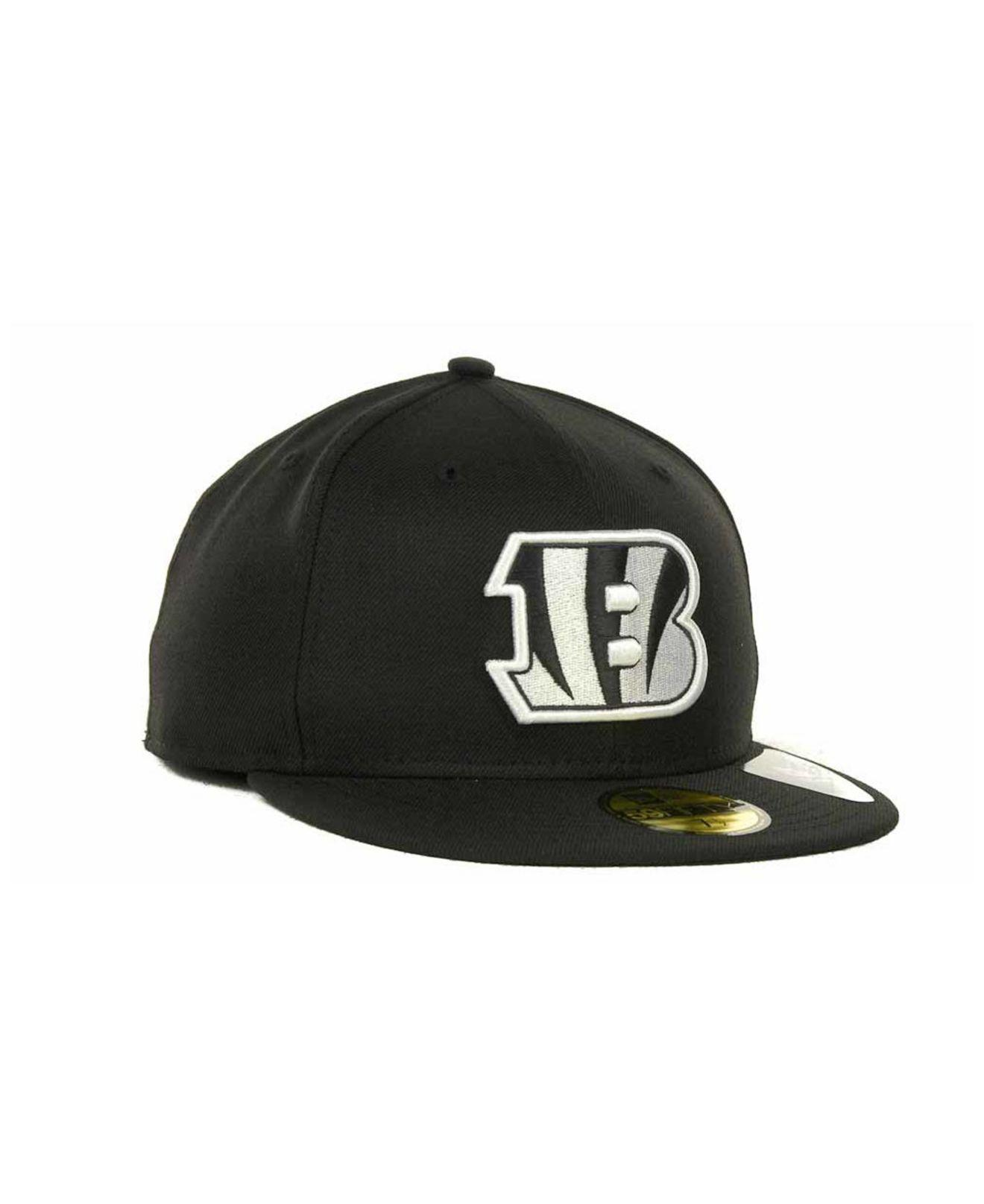 finest selection c7c00 eec20 Lyst - KTZ Cincinnati Bengals Black And White 59fifty Fitted Cap in Black  for Men - Save 8%
