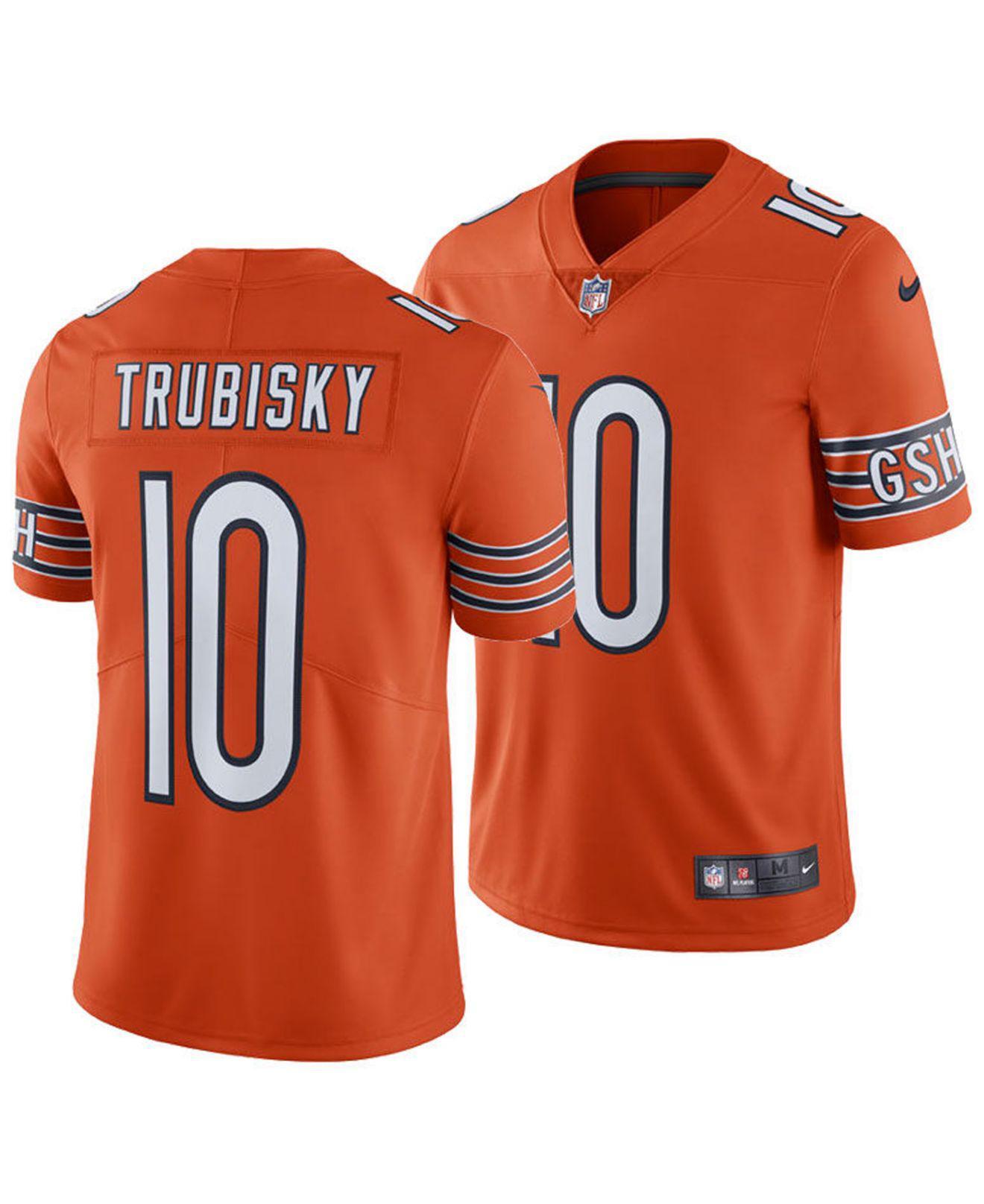 promo code bc21a 73b99 Men's Orange Mitchell Trubisky Chicago Bears Vapor Untouchable Limited  Jersey