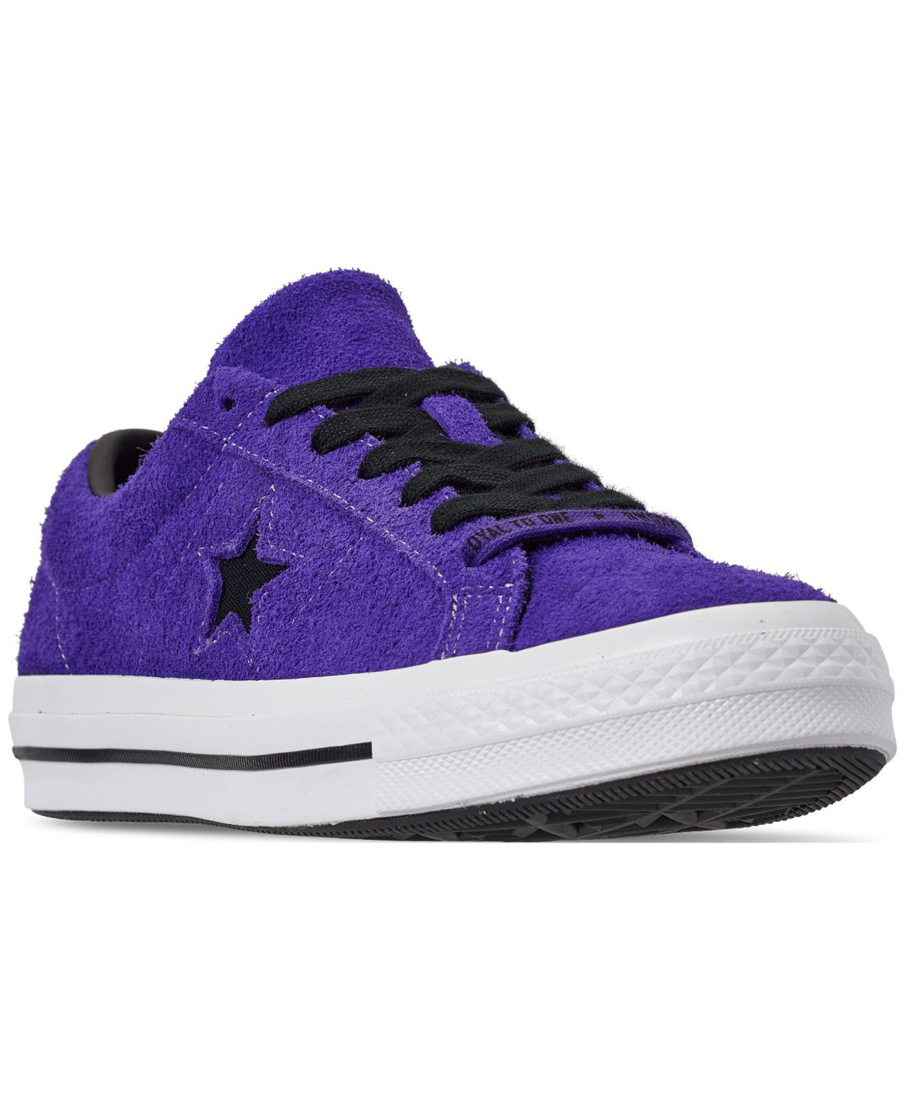 a857a49f75b Lyst - Converse Dark Star Vintage Suede Oxford Sneakers in Purple for Men - Save  47%