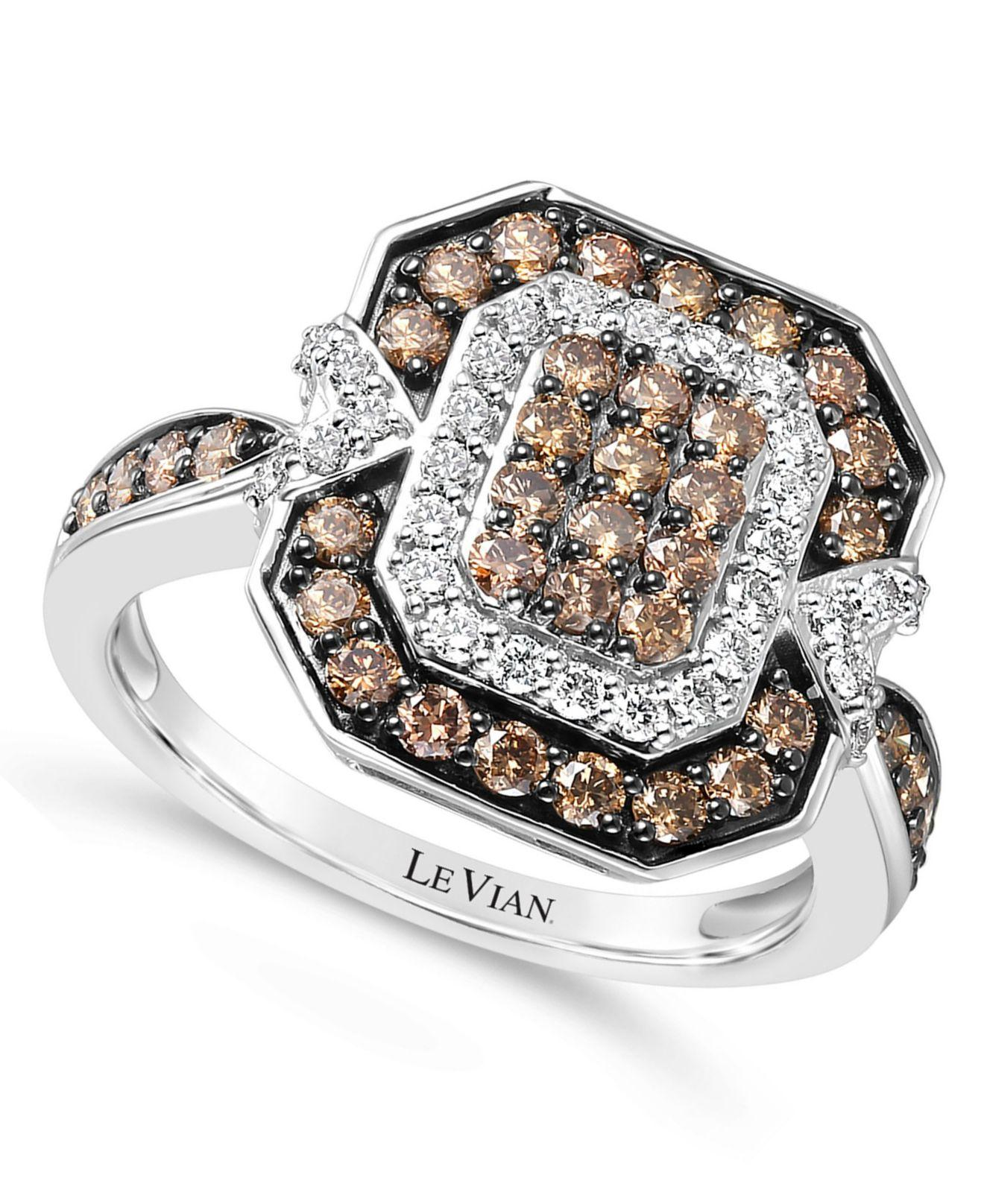 Le Vian ® Nude Diamond Cluster Statement Ring (7/8 Ct. T.w