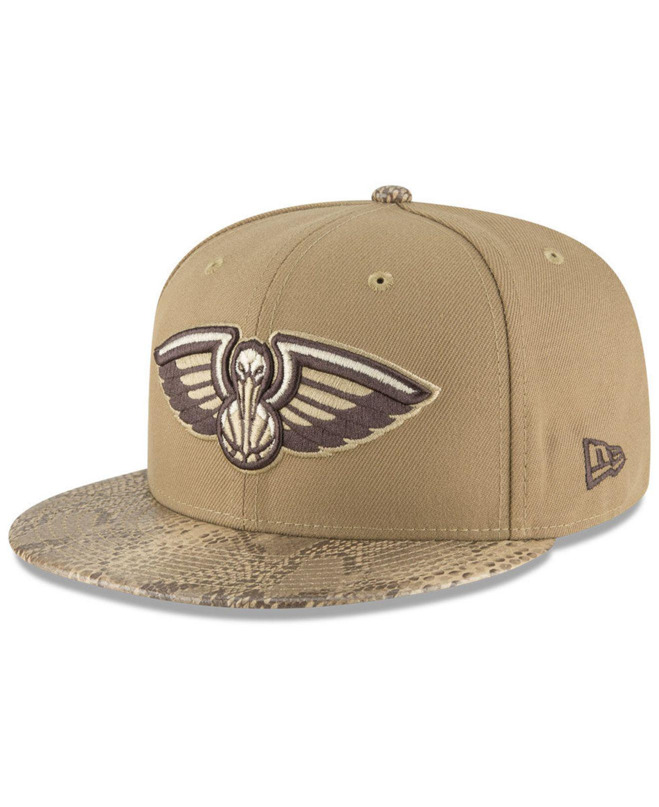 check out 03107 65b72 KTZ. Men s New Orleans Pelicans Snakeskin Sleek 59fifty Fitted Cap