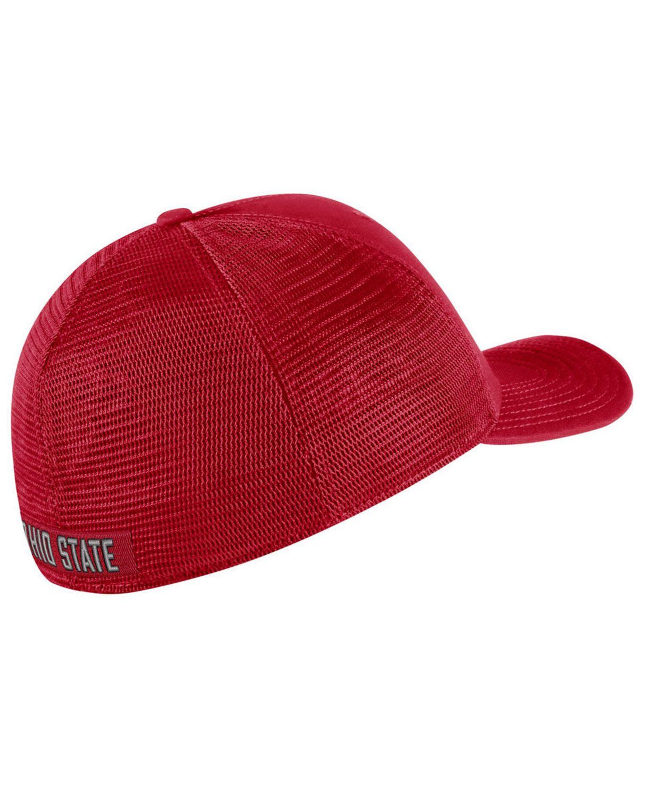 9b19a88d665034 Lyst - Nike Ohio State Buckeyes Aerobill Mesh Cap in Red for Men