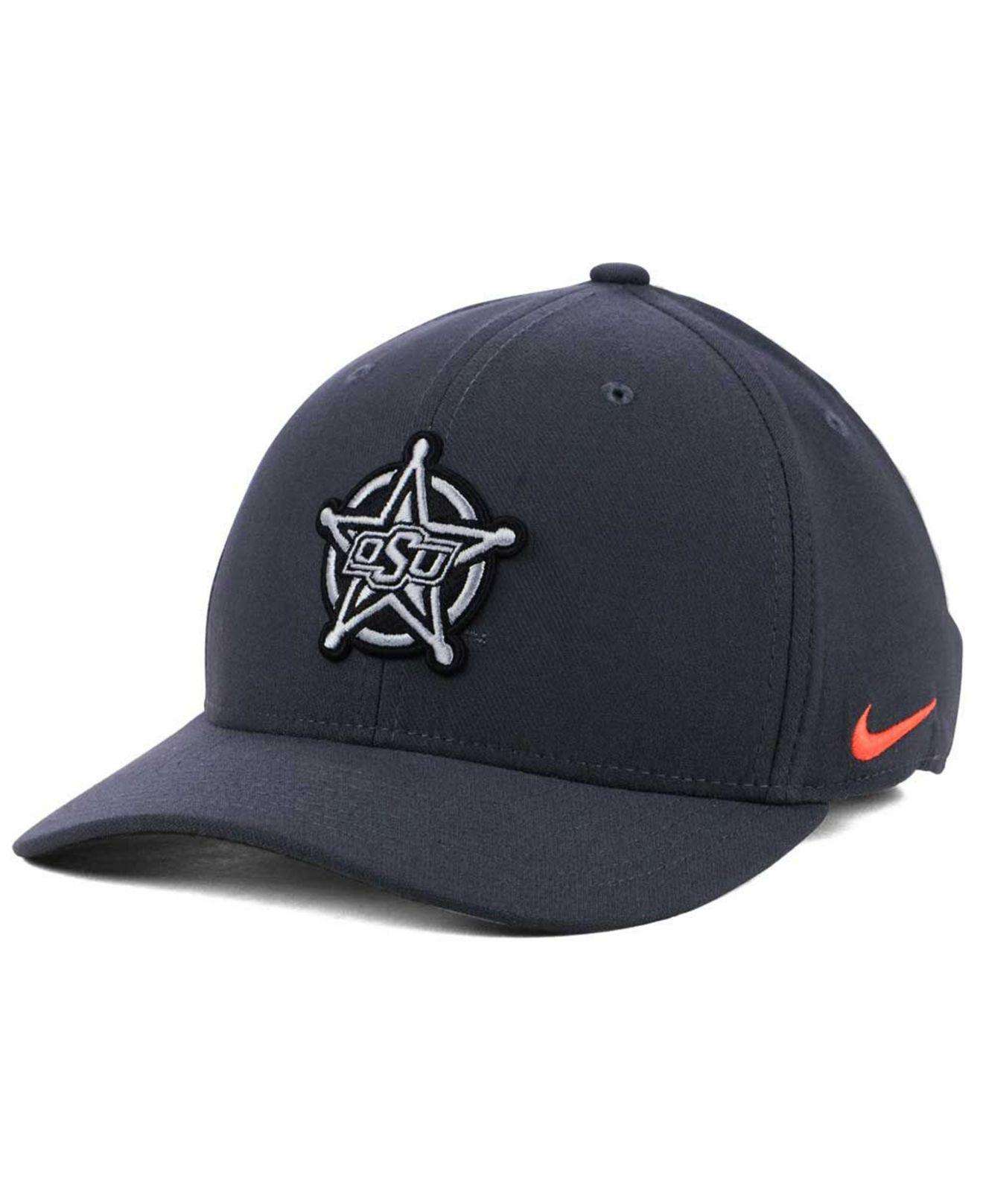 save off 325d4 0bf23 ... canada nike. mens blue oklahoma state cowboys anthracite classic swoosh  cap 5cb07 ab927