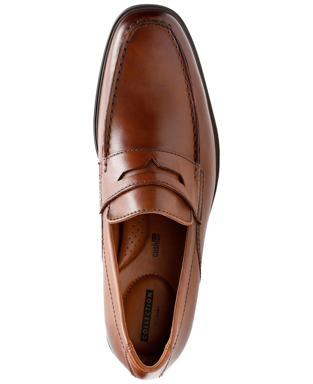 8bff77f3456 Lyst - Clarks Tilden Way Leather Penny Loafers in Brown for Men ...