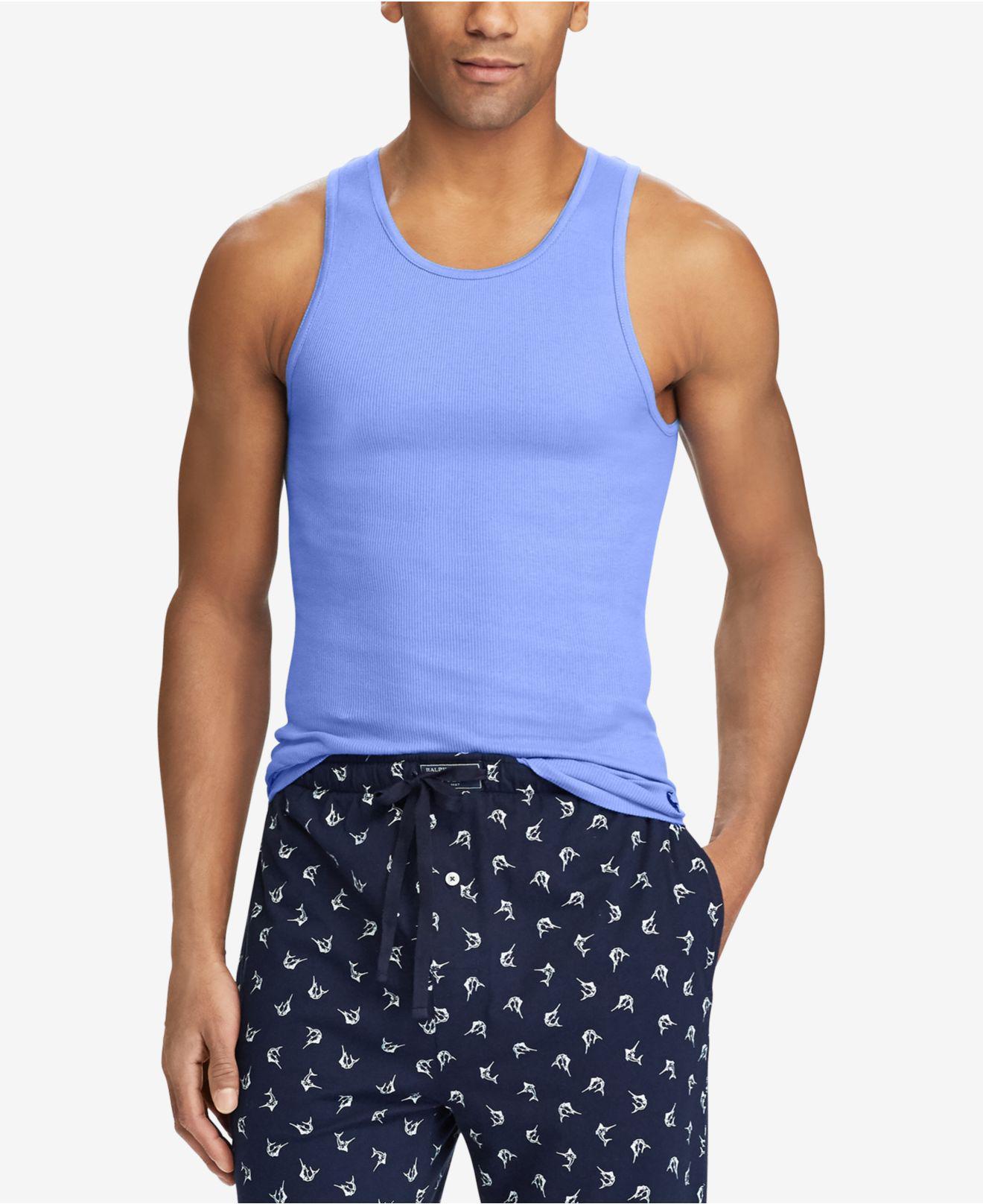 Polo Ralph Lauren. Men\u0027s Blue Classic Fit Tank Tops ...