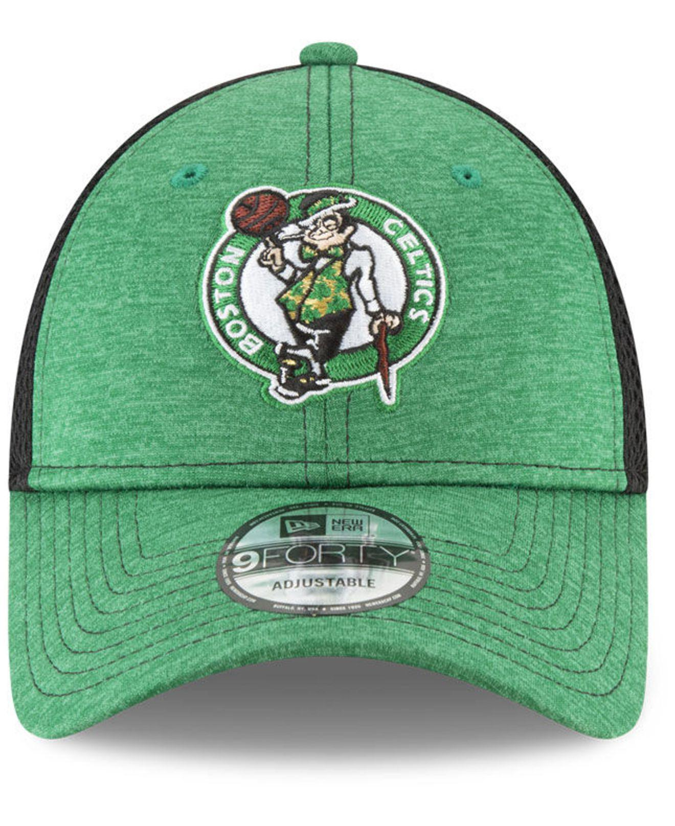 timeless design 460cc 80851 ... closeout lyst ktz boston celtics shadow turn 2 adjustable cap in green  for men adfed 5431d