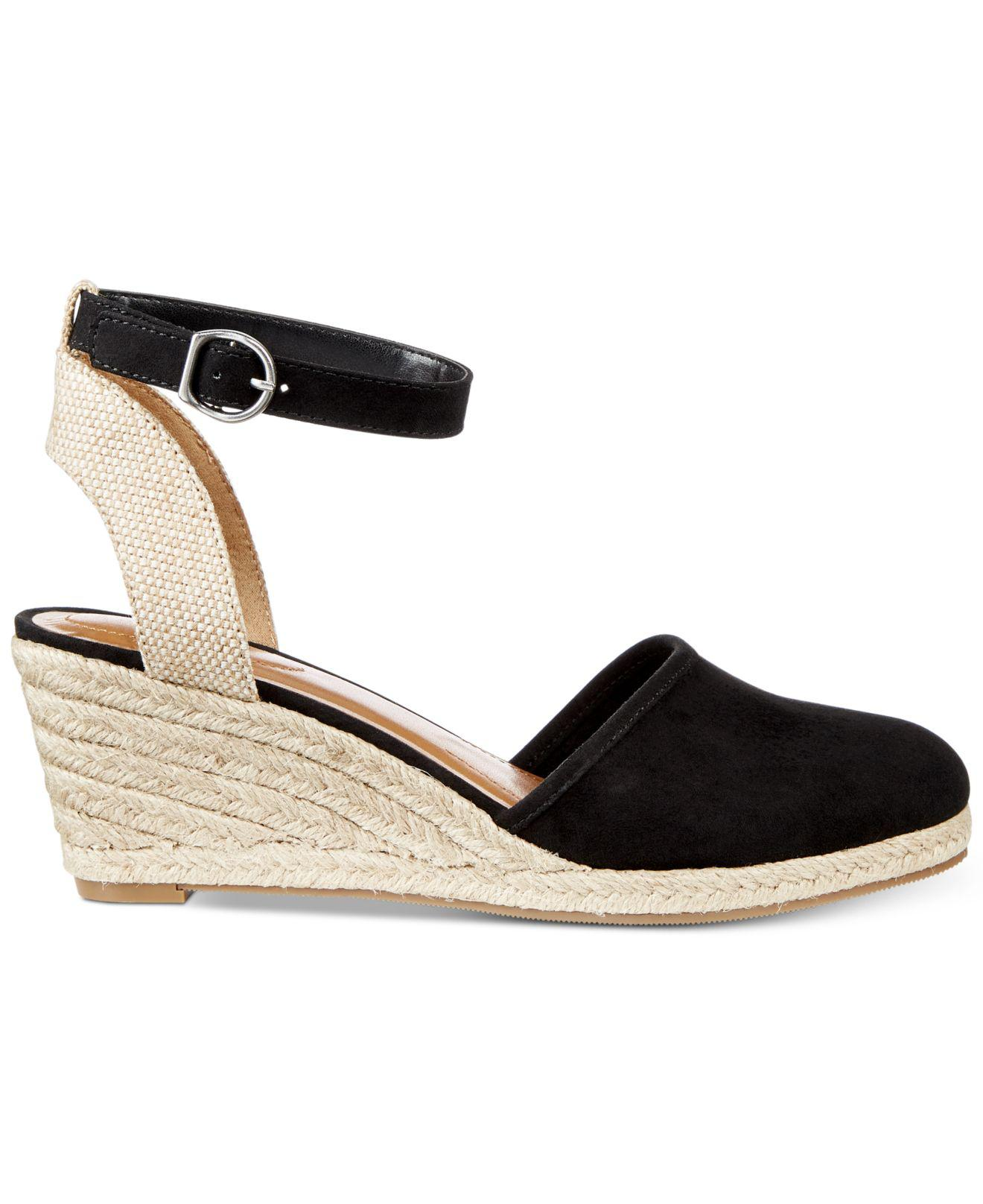 9fc7fc9e28d Style & Co. Black Mailena Wedge Espadrille Sandals, Created For Macy's