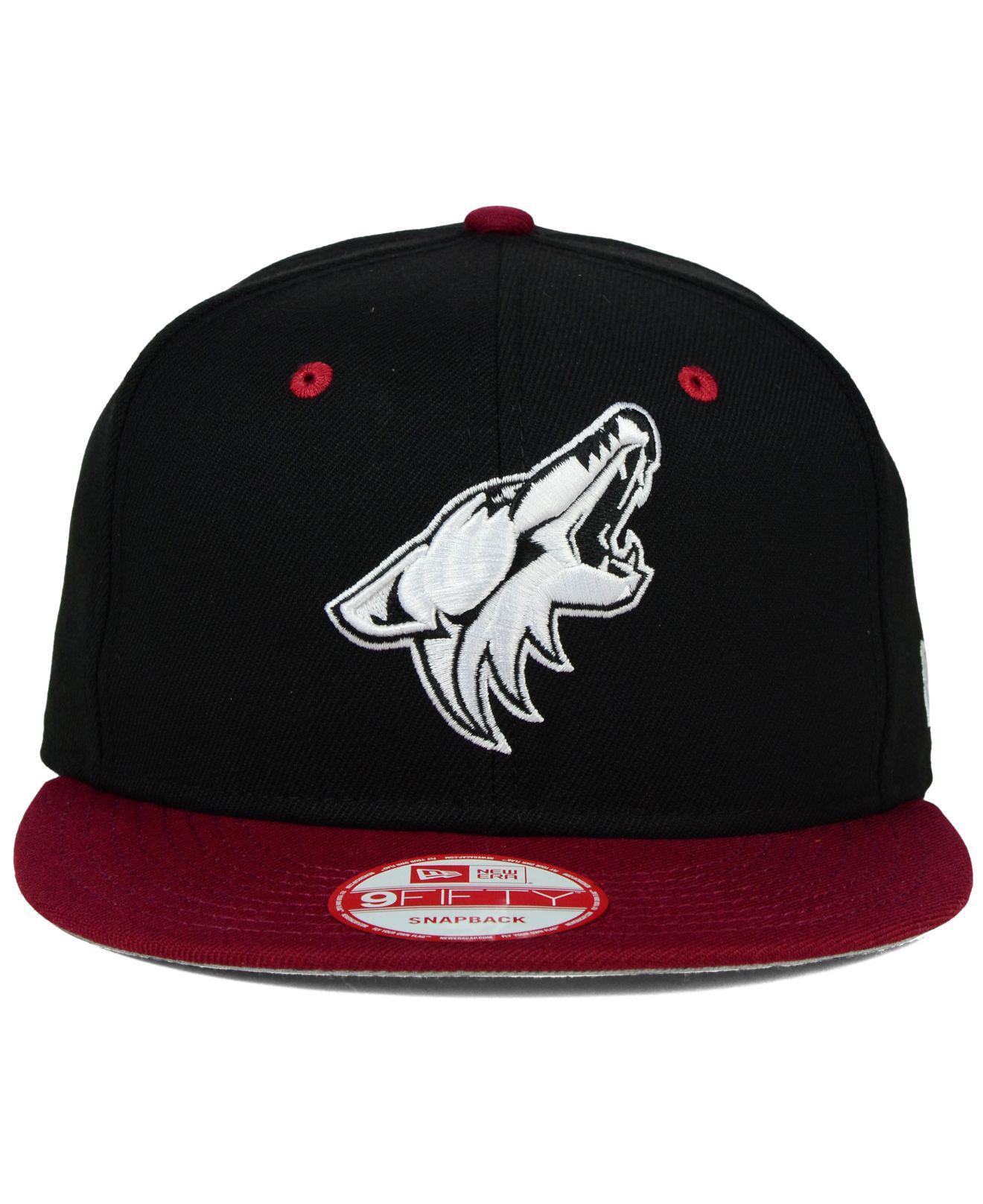 reputable site 3e0ac 78e44 ... canada lyst ktz arizona coyotes black white team color 9fifty snapback  cap for men a80e4 f335a